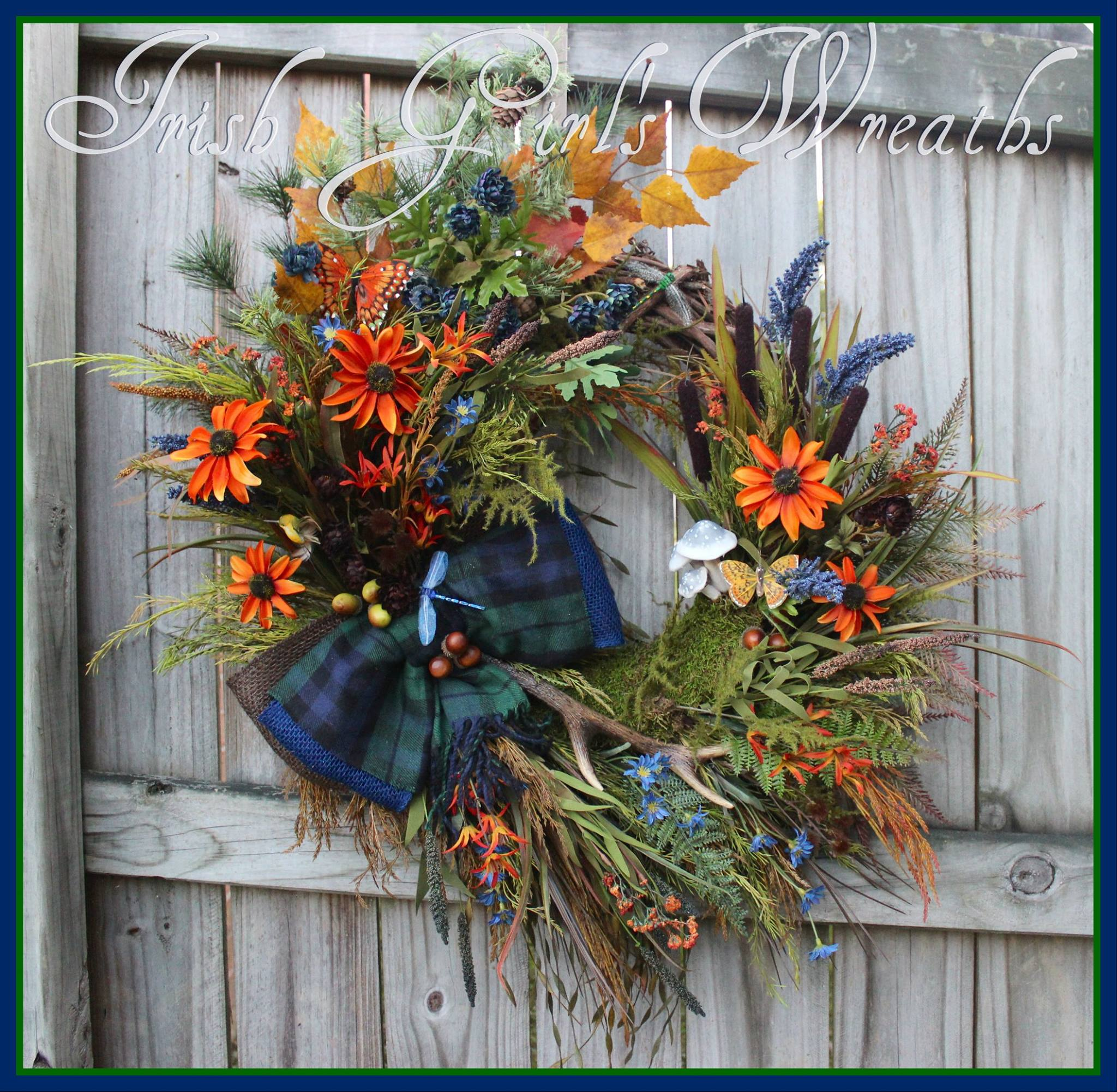 Carol's Custom North Carolina Lake House Wreath