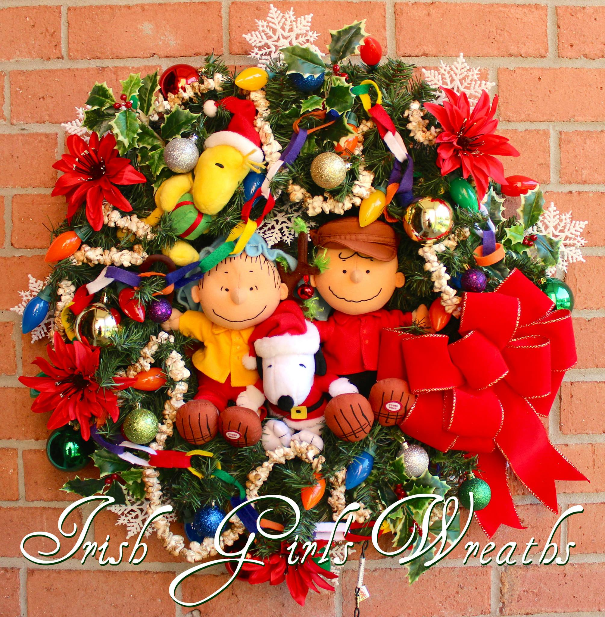 Charlie Brown Christmas Wreath, Custom for Sherri