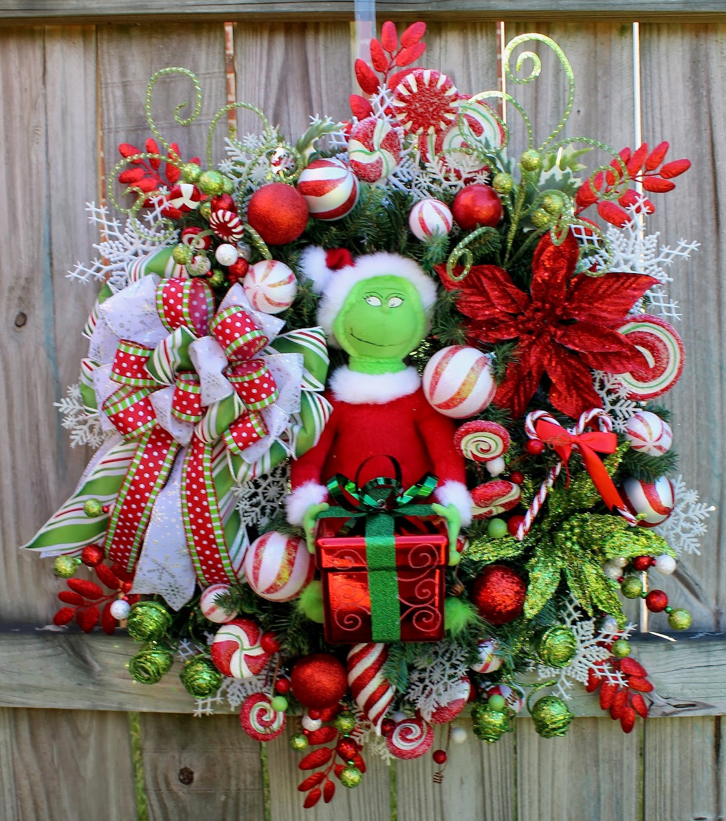 Custom Grinch 2014 Christmas Wreath