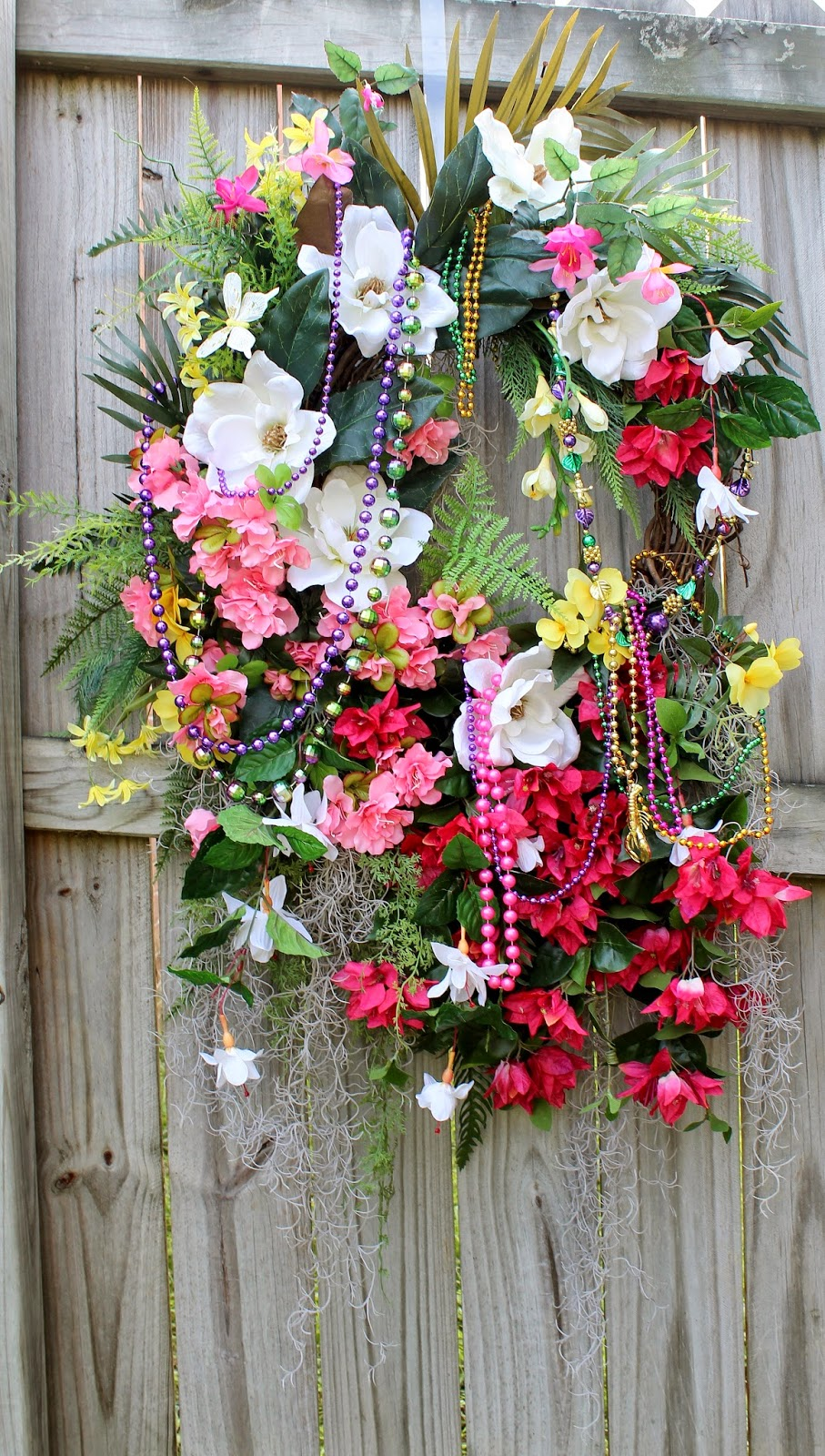 HUGE French Quarter Mardi Gras New Orleans Wreath
