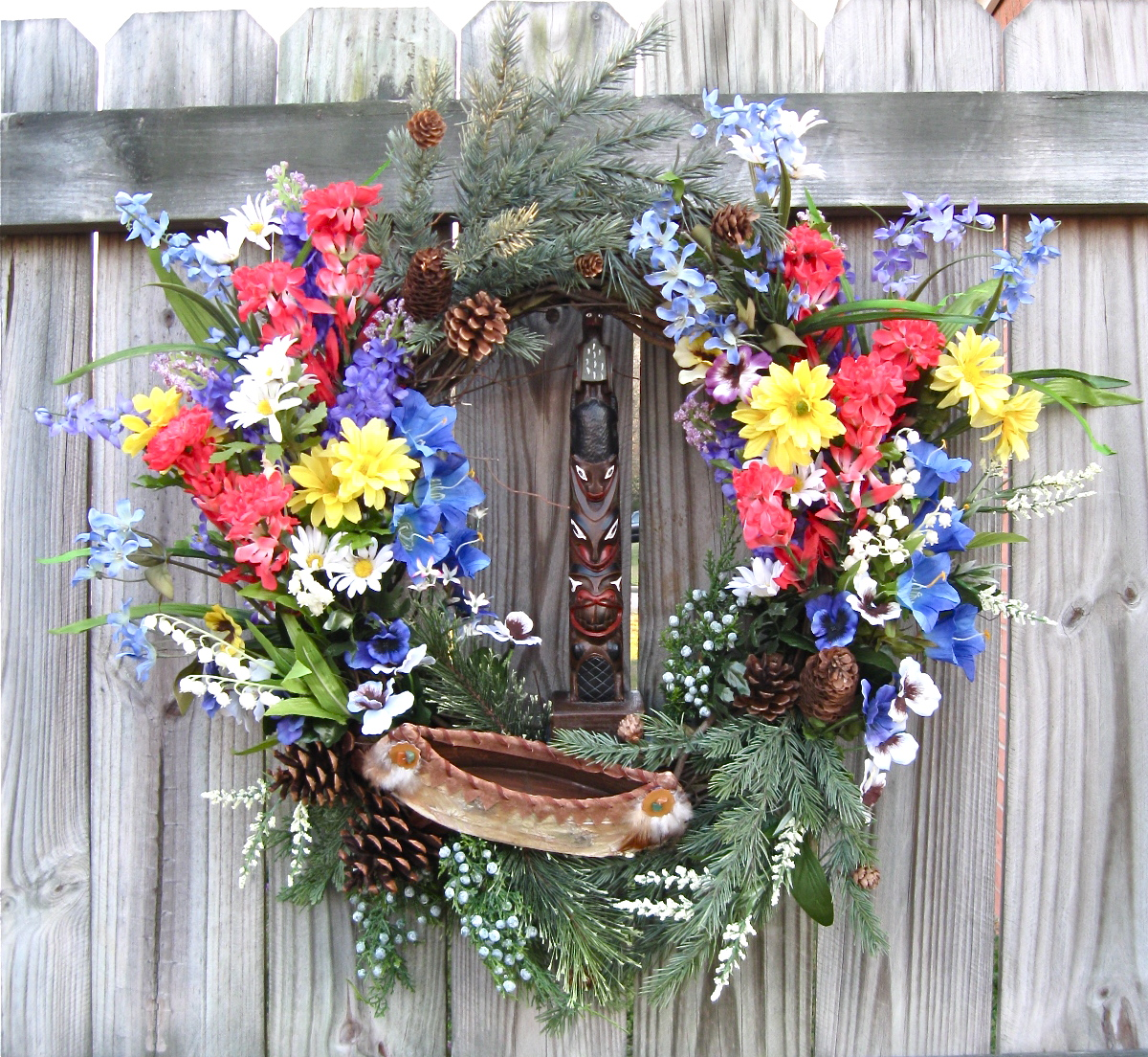 Pacific Northwest Wildflower Totem Wreath