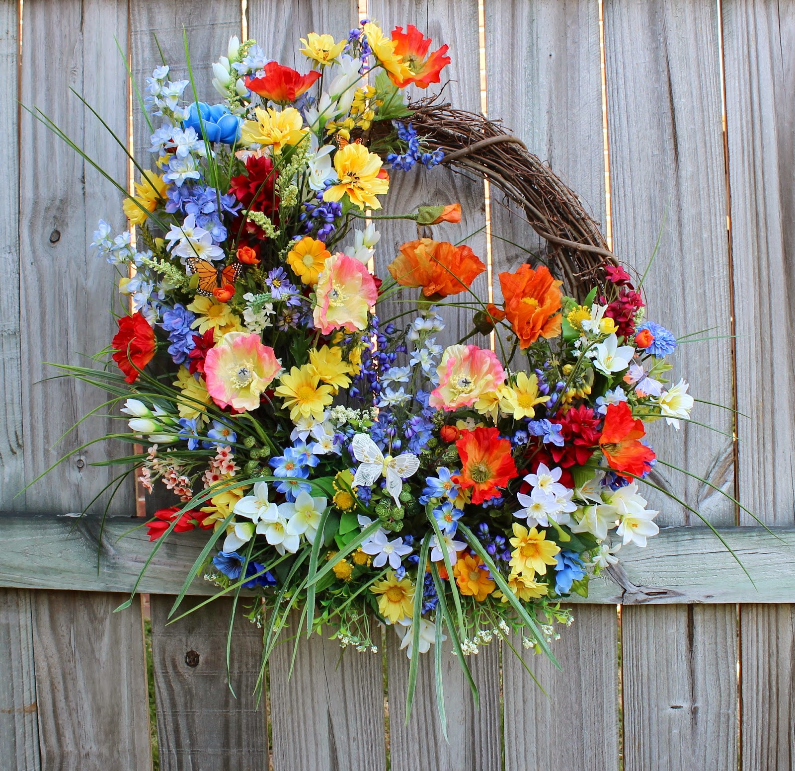 Mountain Meadow Wildflowers Wreath