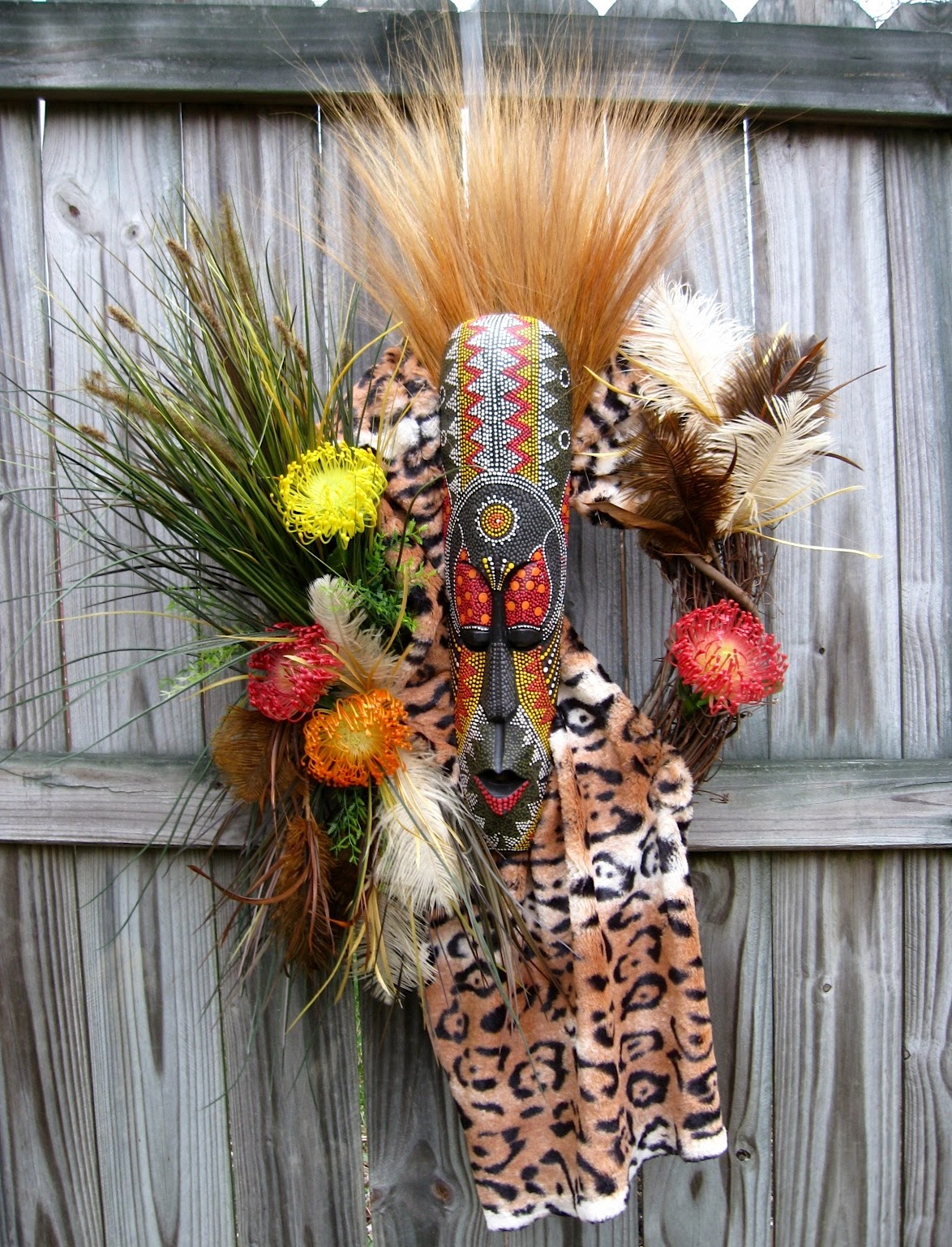 African Tribal Wreath