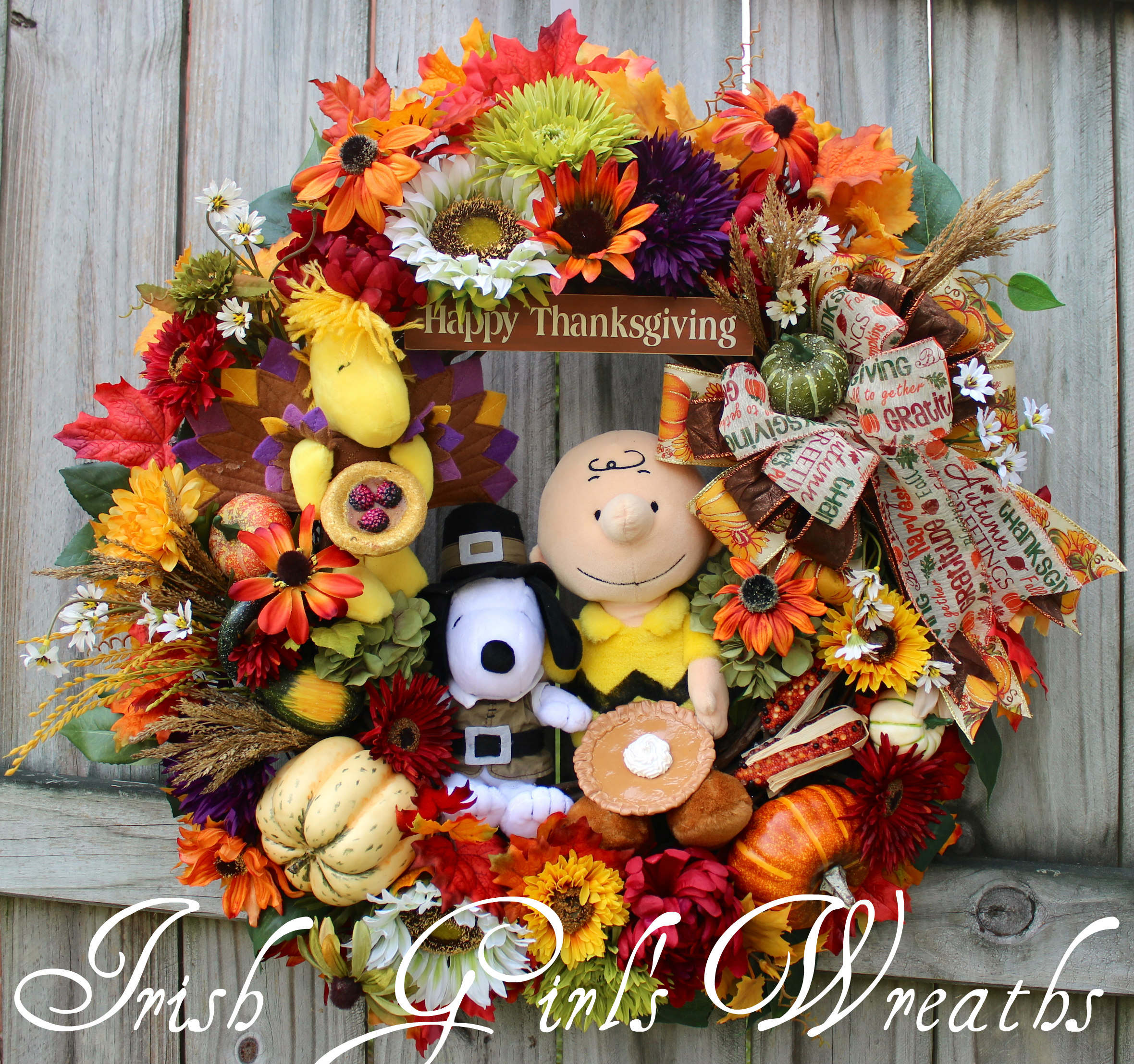 Charlie Brown Thanksgiving Wreath, for Alison