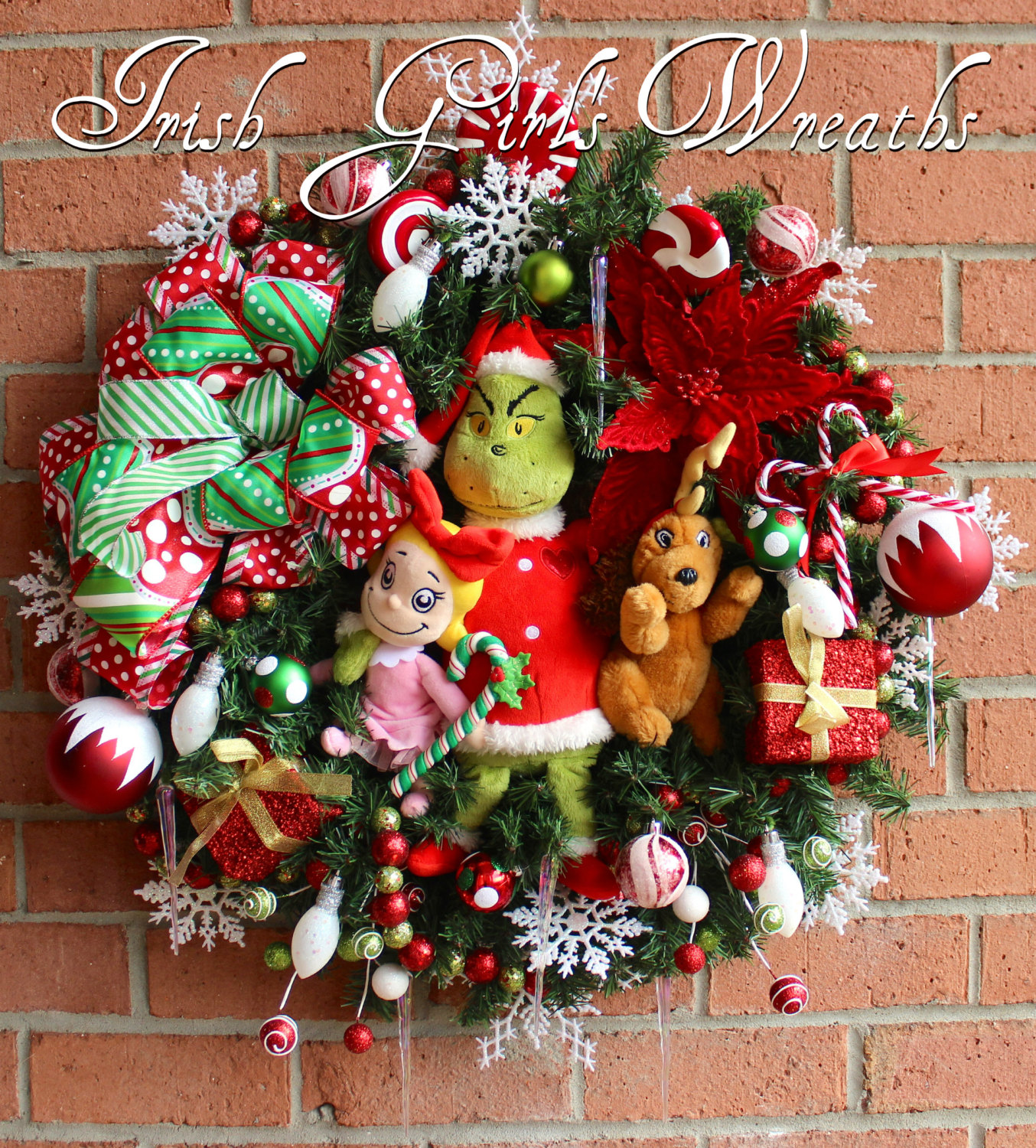 Grinch & Max & Cindy Lou Who Christmas Wreath #2