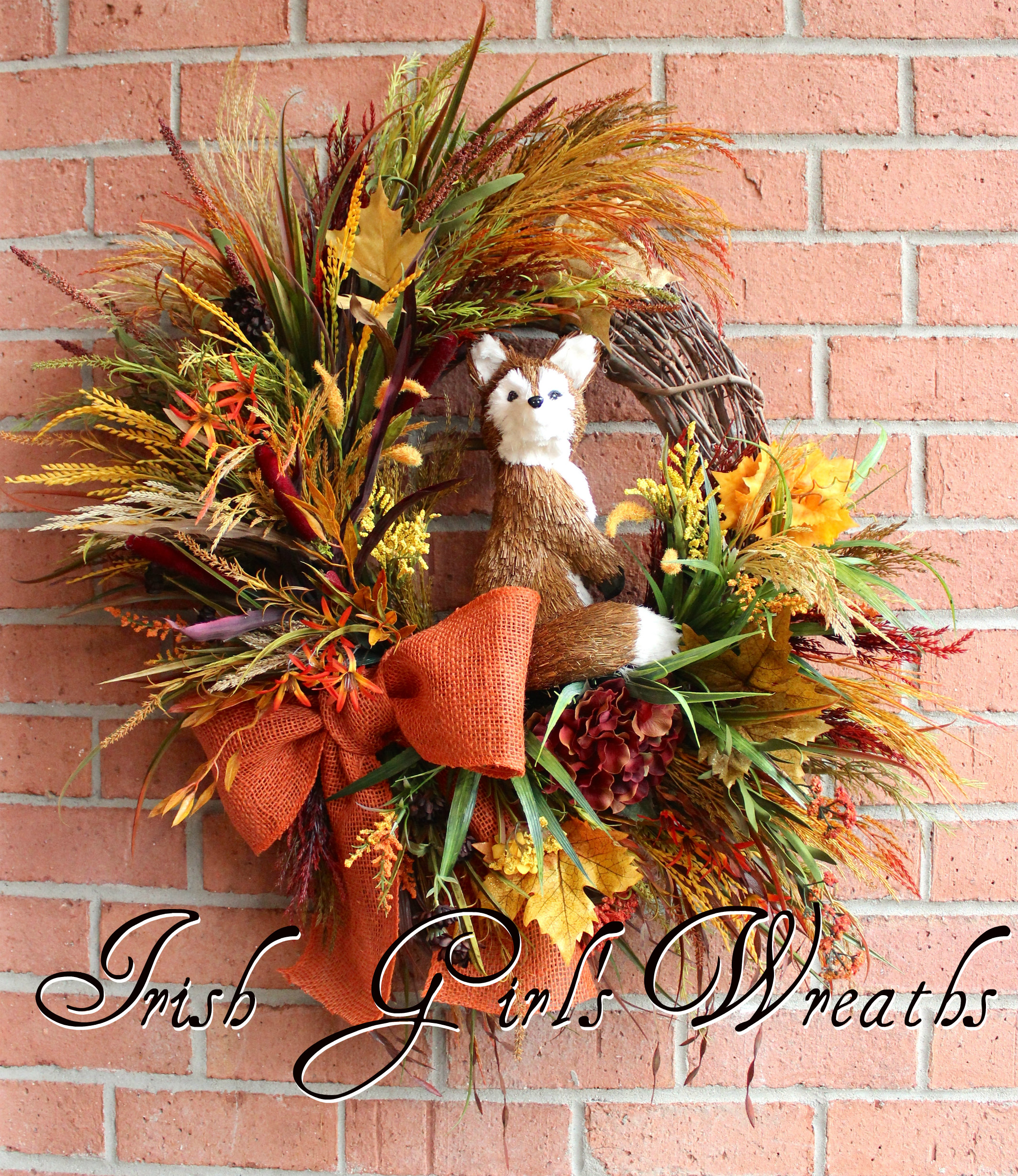 Fox in the Autumn Meadow, Custom for Joan