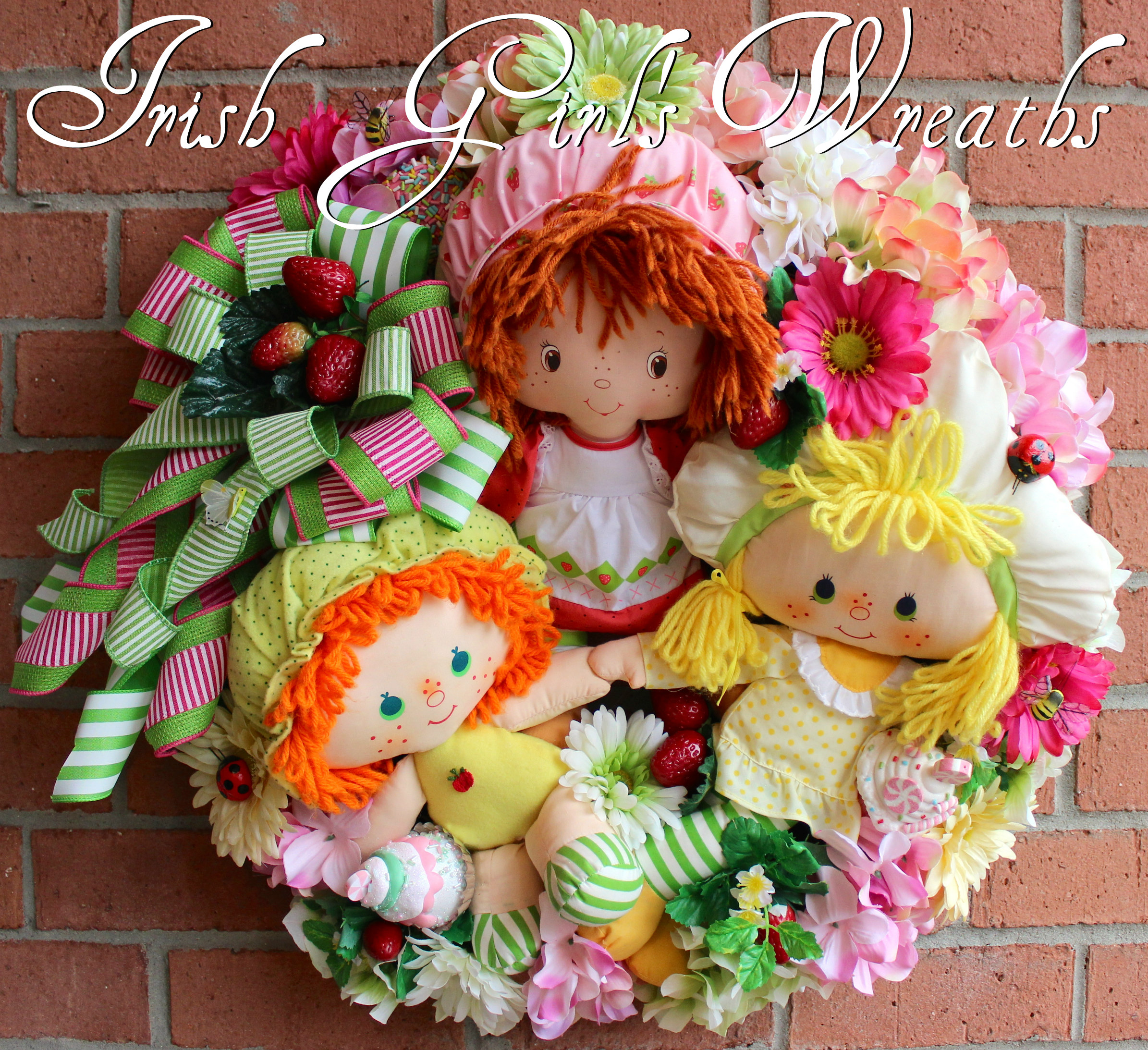 Vintage Strawberry Shortcake and Friends Wreath, Custom for Joan