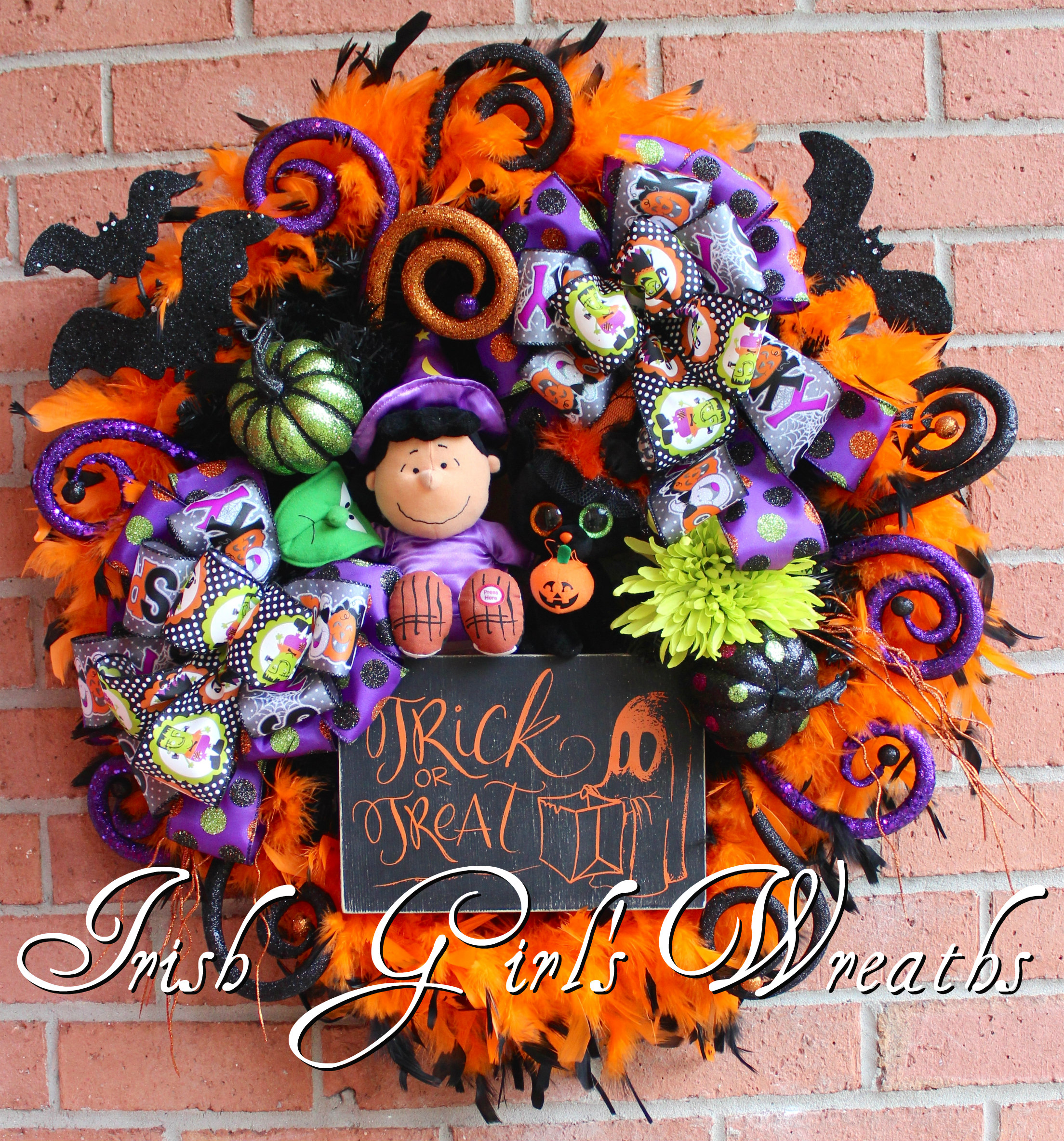 Peanuts Lucy Witch Halloween Wreath