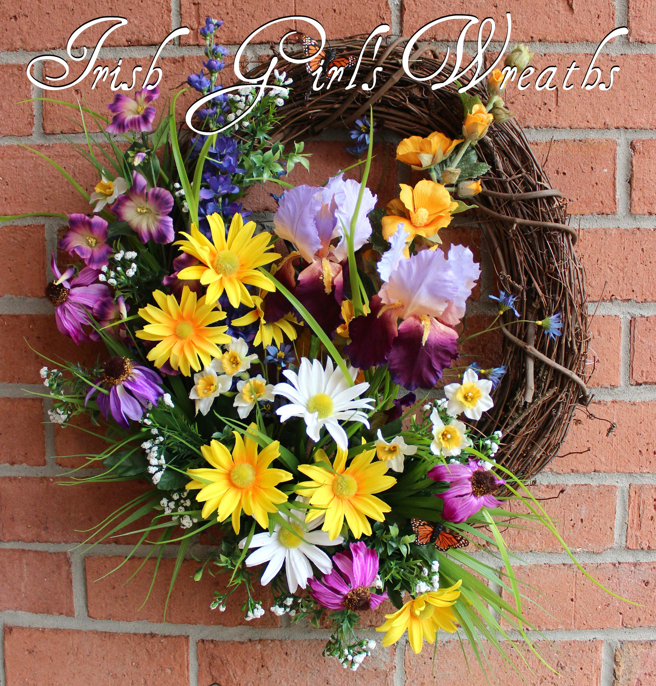 Spring Mountain Wildflowers Wreath