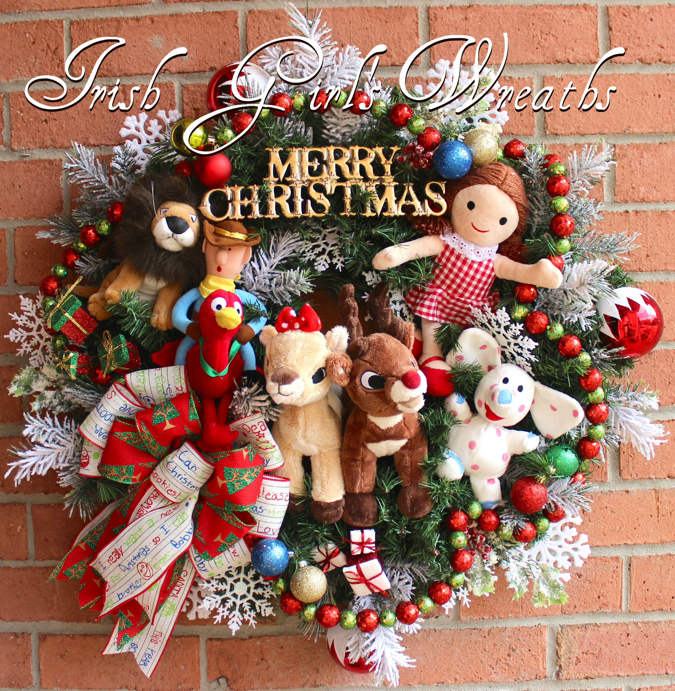 Ultimate Rudolph, Clarice and Misfit Toys Christmas Wreath