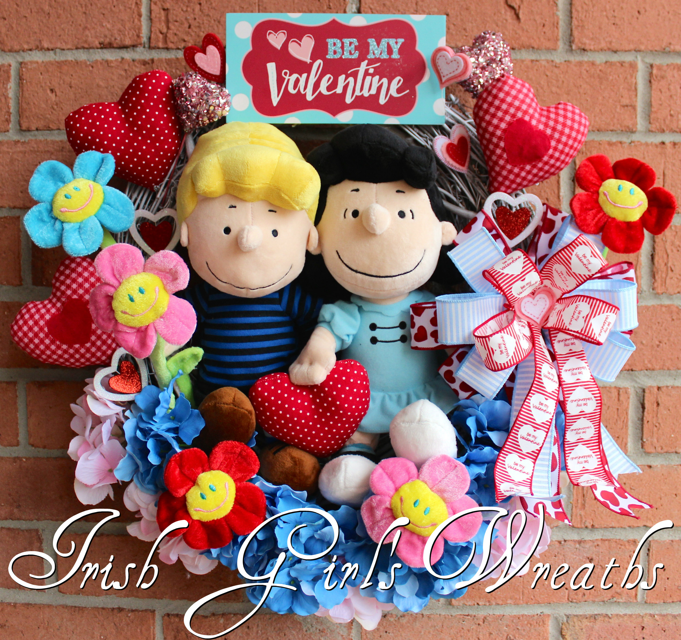 Peanuts Valentine Wreath, Lucy and Schroeder Be My Valentine Wreath