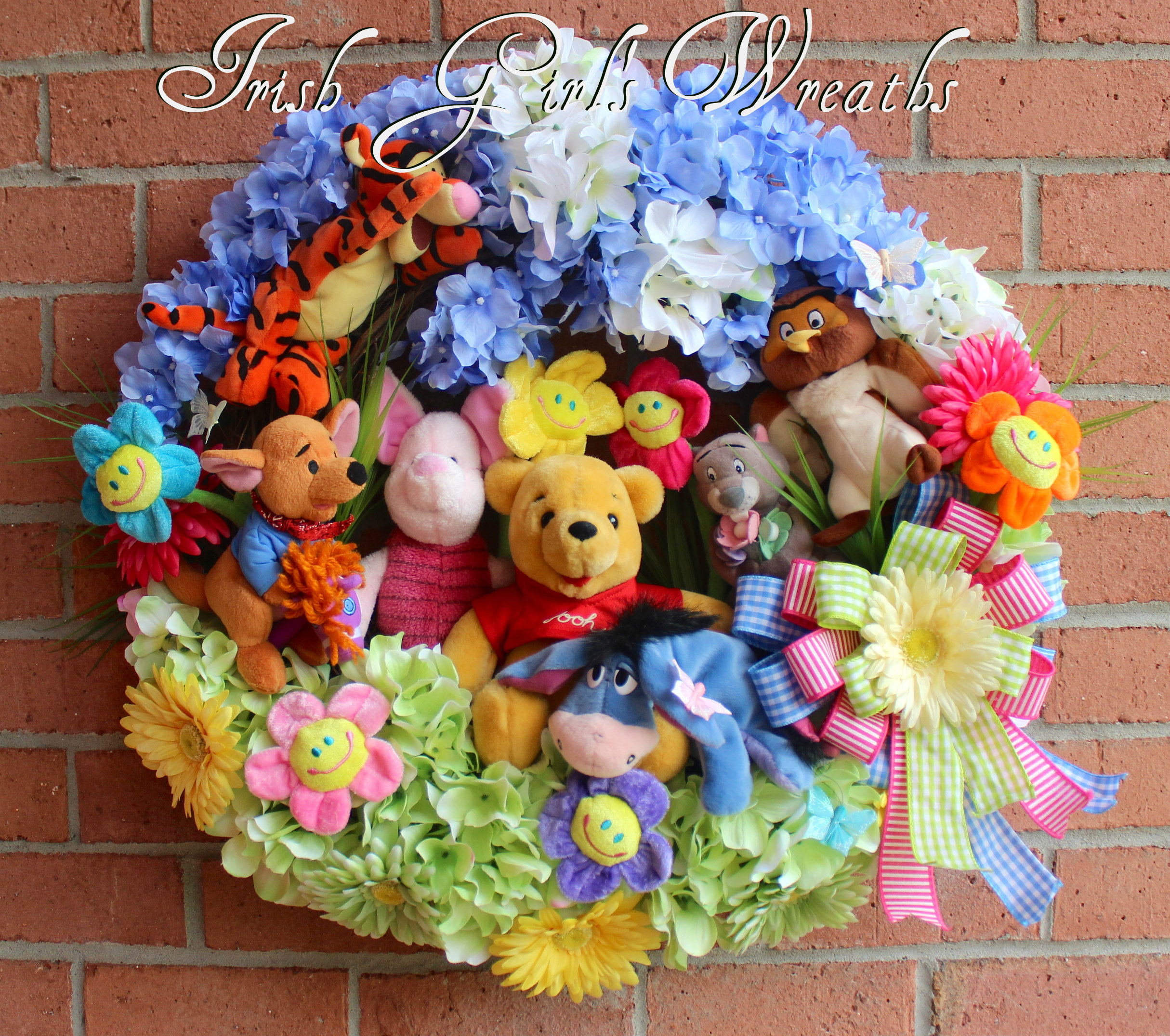 Winnie the Pooh and Friends Wreath – Custom Order for fabulous repeat customer, Dolores