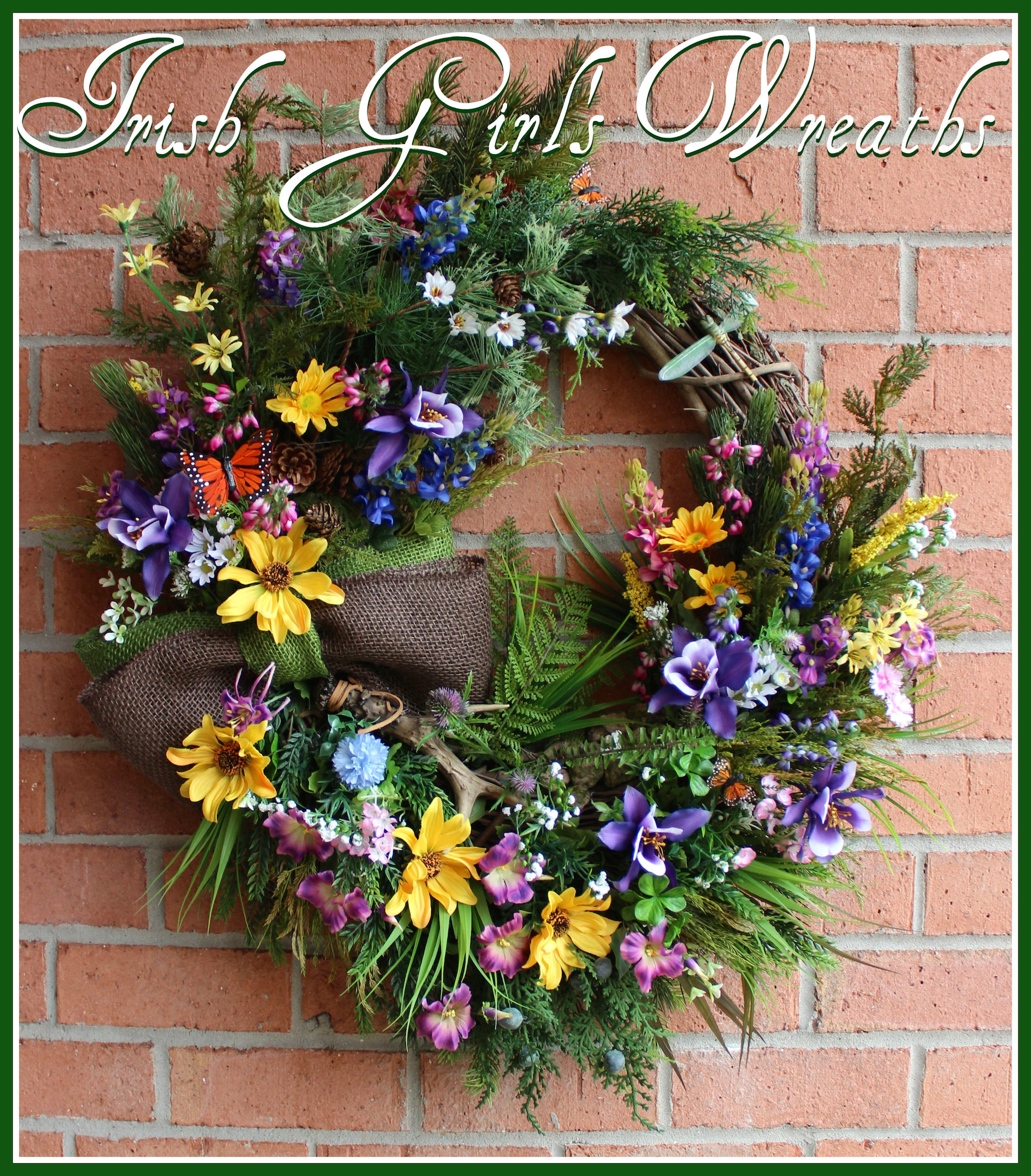MADE TO ORDER Colorado Wilderness Wildflower Wreath, Rustic Summer or Everyday Wreath