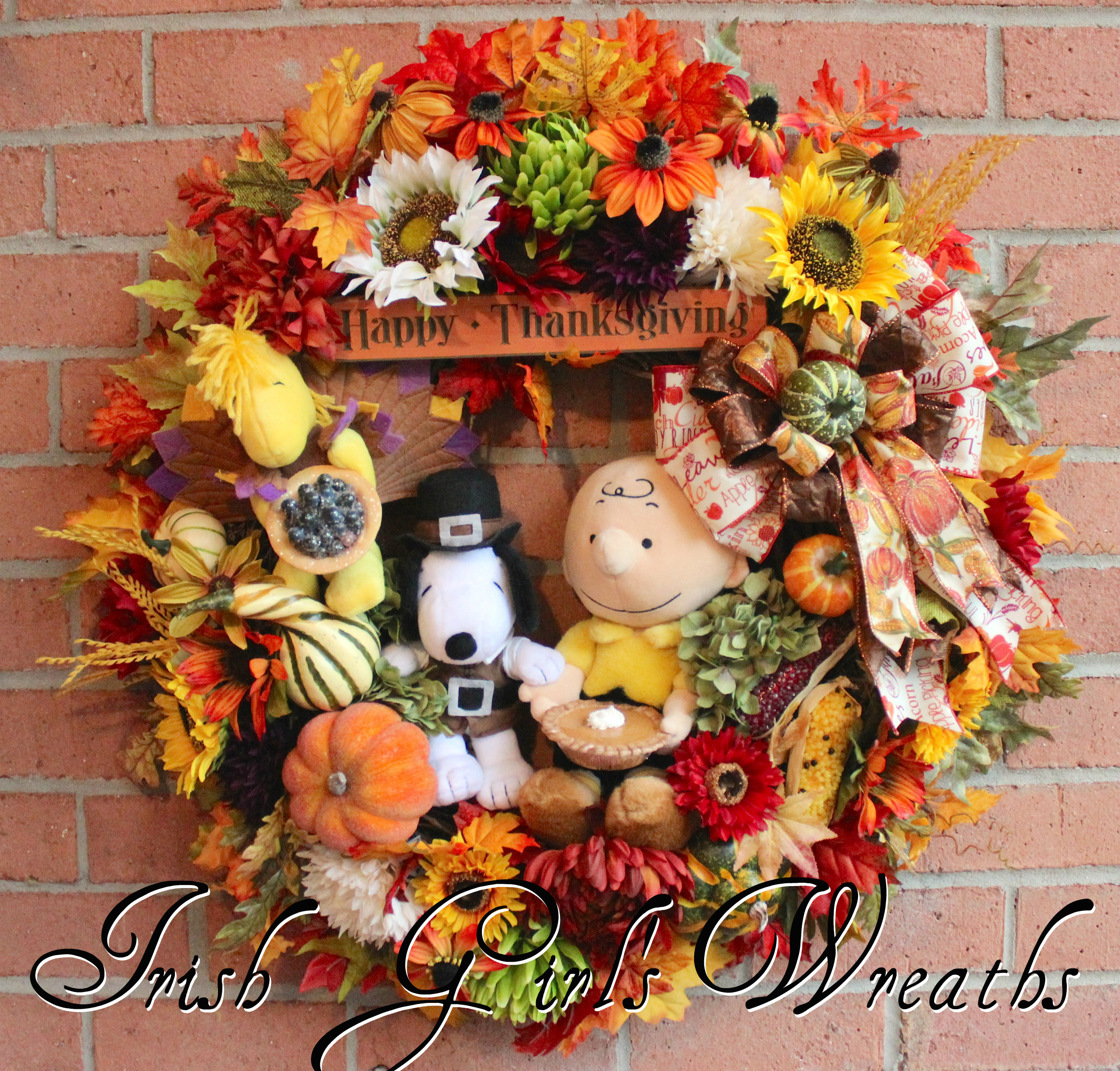 Charlie Brown Thanksgiving Wreath, Custom for Sherri