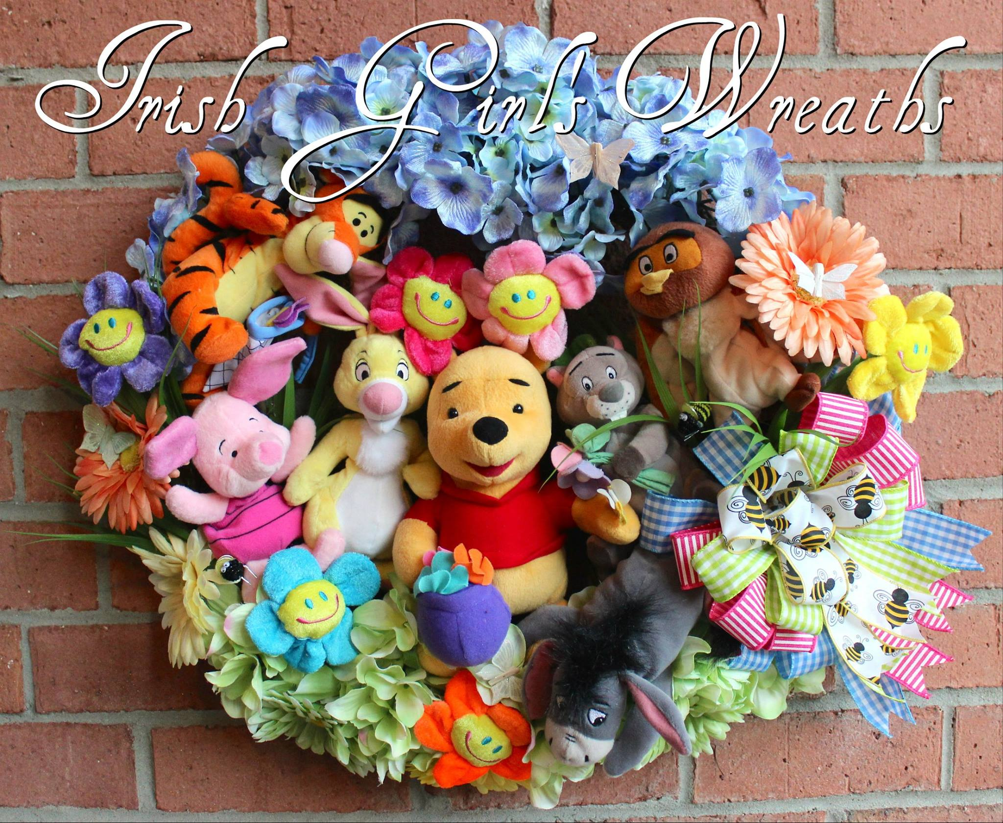 Winnie the Pooh and Friends Nursery Wreath, Custom for Christin