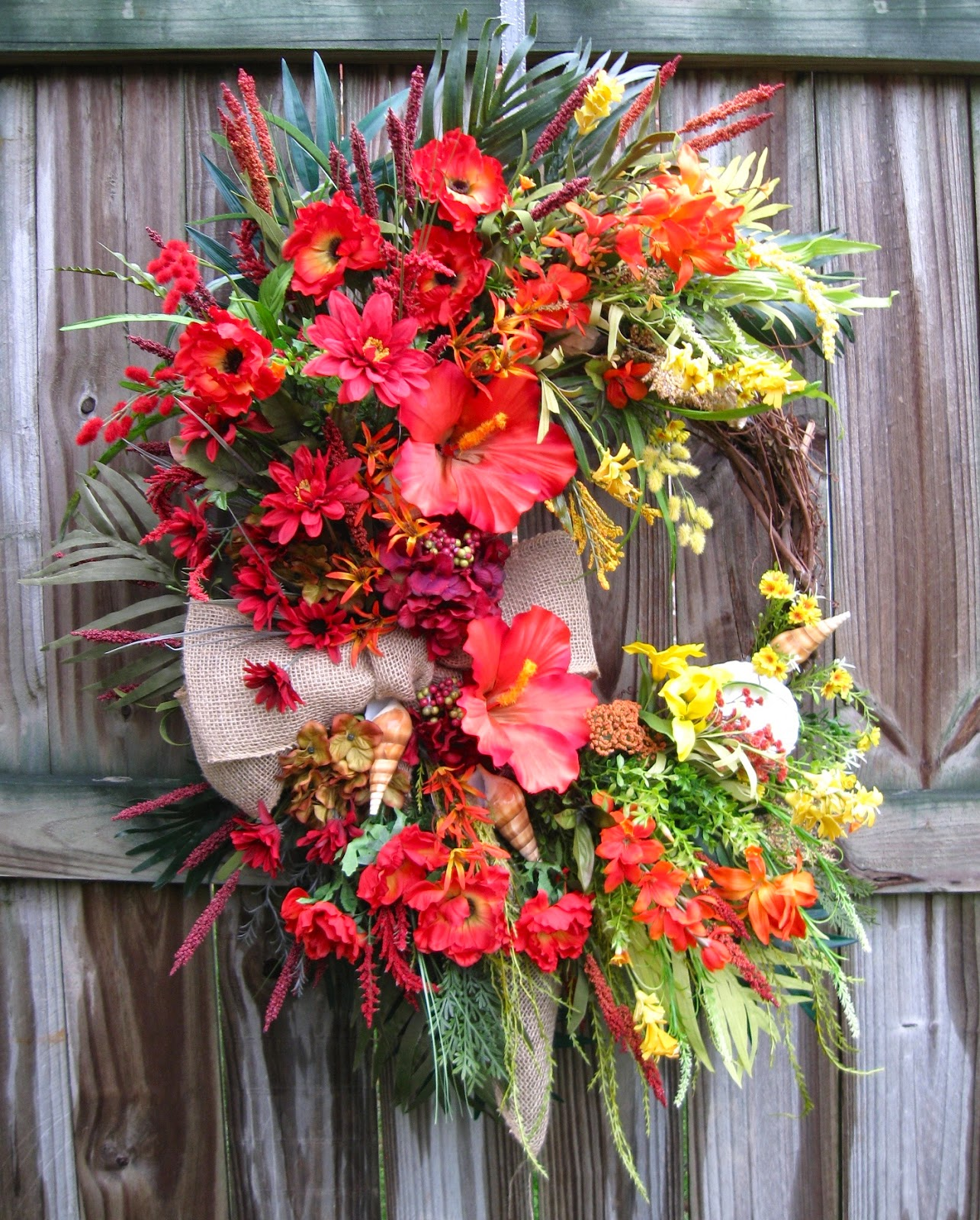 Tropical Sunset Coastal Wreath