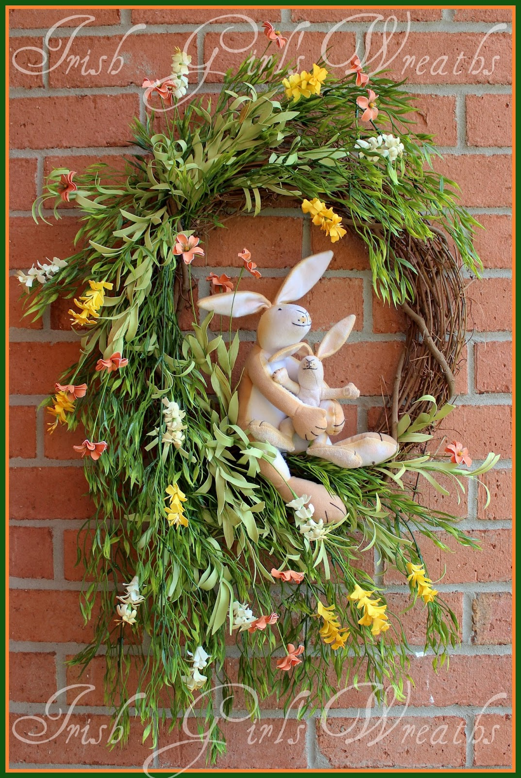Guess How Much I Love You Bunny Wreath, NutBrown Hare, Father Son, Father's Day, Mother's Day, Nursery, Baby, Child room