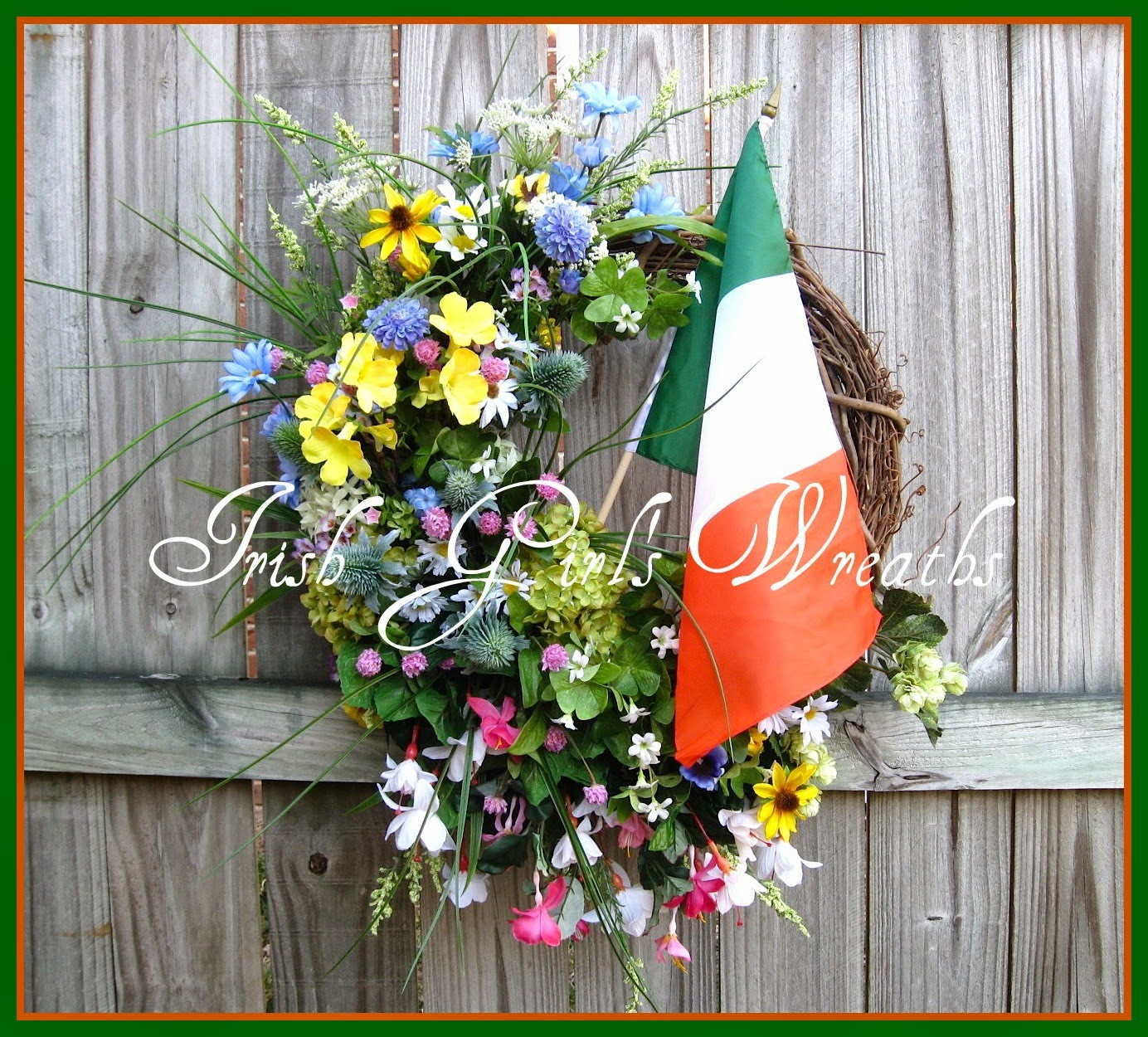 Wild Ireland Irish Wildflowers XXL Wreath