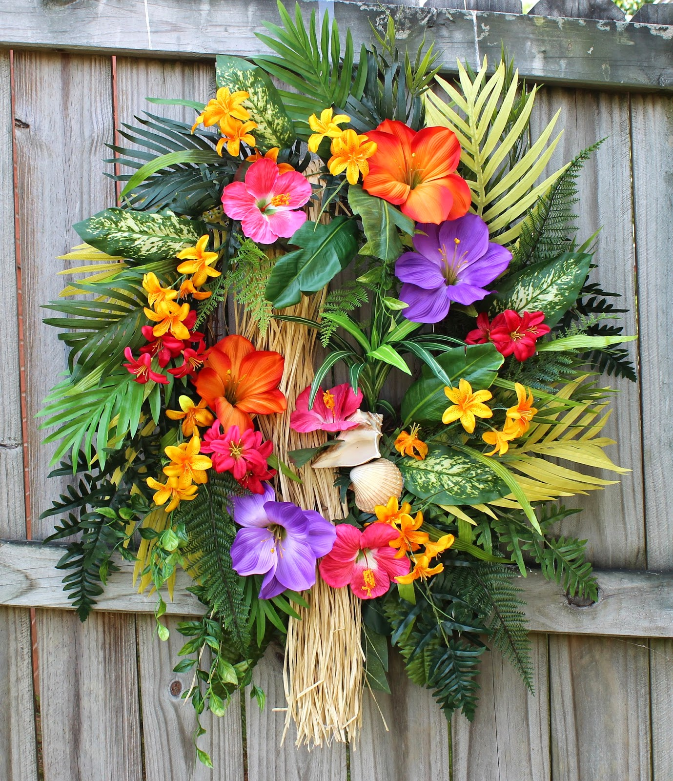 Tropical Island Paradise Summer Luau Wreath