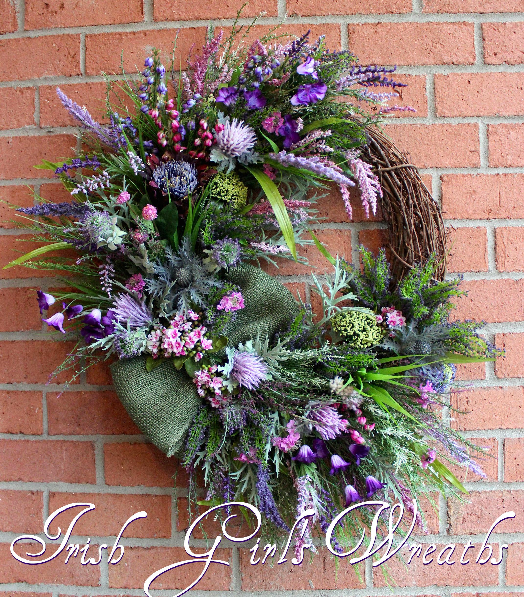 Scottish Heather Coastal Wreath for Alice
