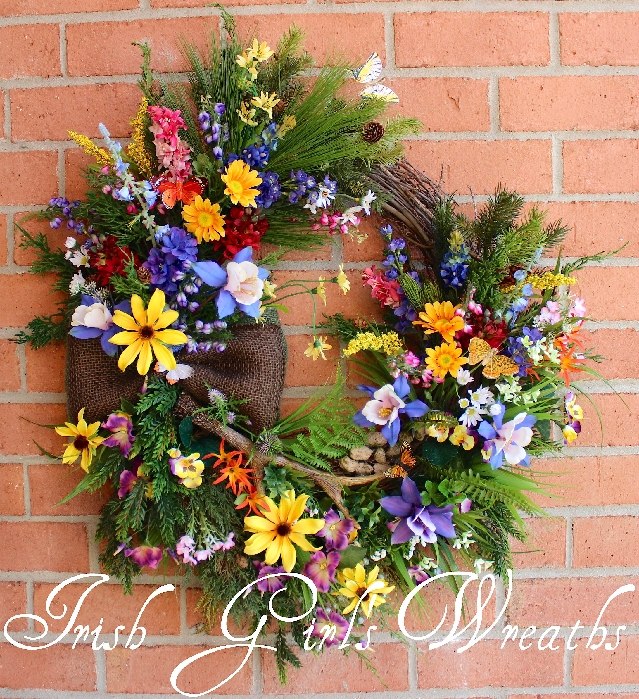 Colorado Mountain Wildflowers Wreath, Custom Order for Art
