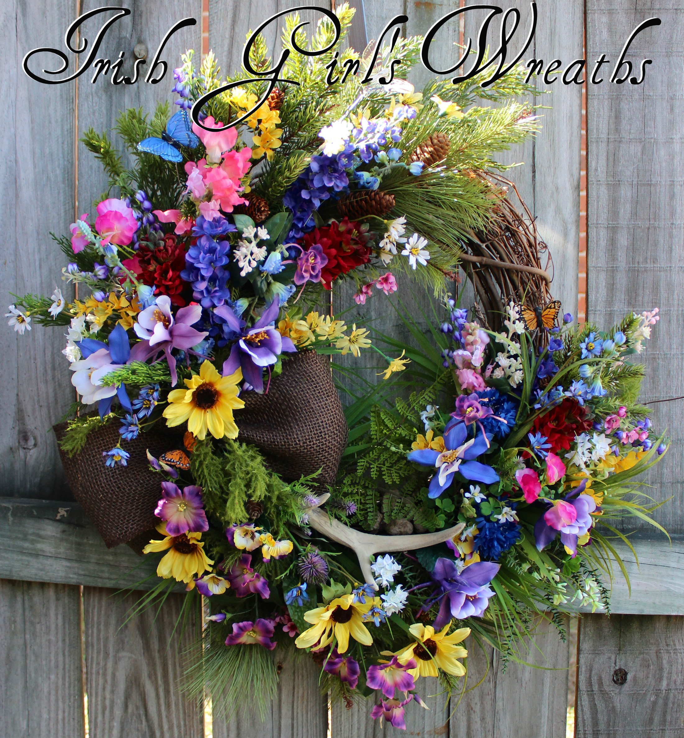 Colorado Columbine Wilderness Wildflower Wreath, Mountain Wildflower