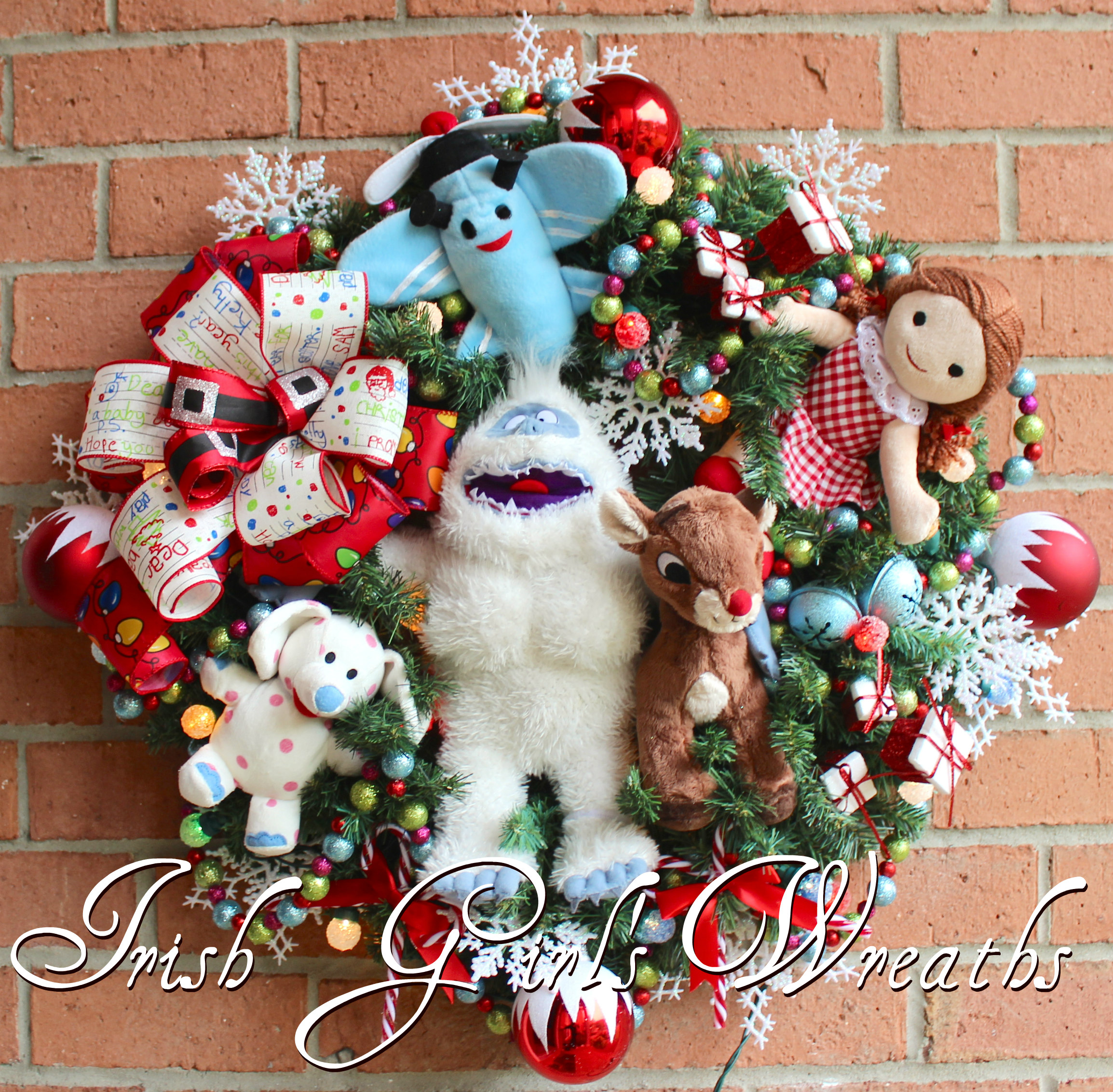 Bumble Snow Monster – Rudolph and Misfit Toys Wreath, Custom for Crystal