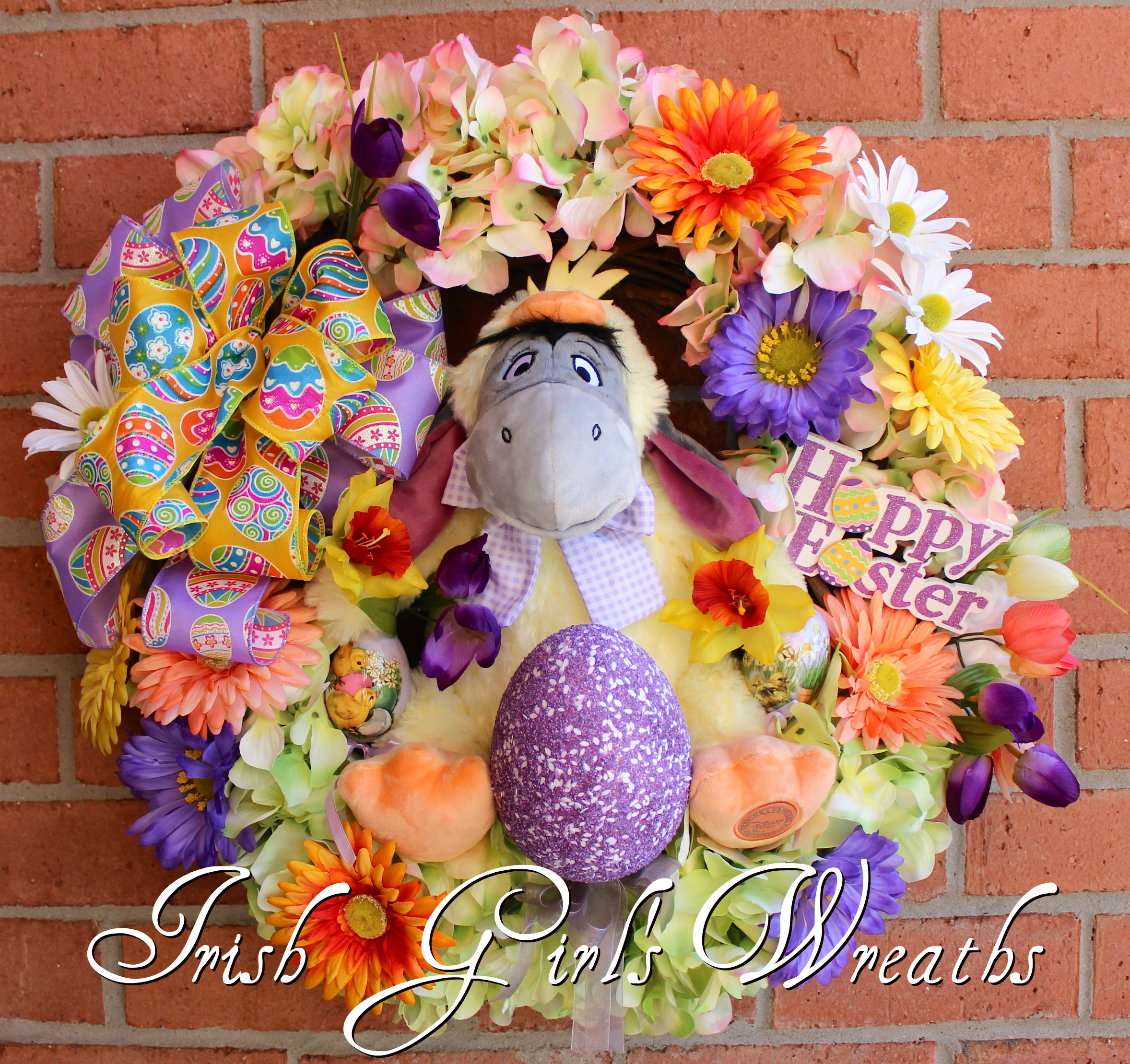 Eeyore Easter Chick Wreath