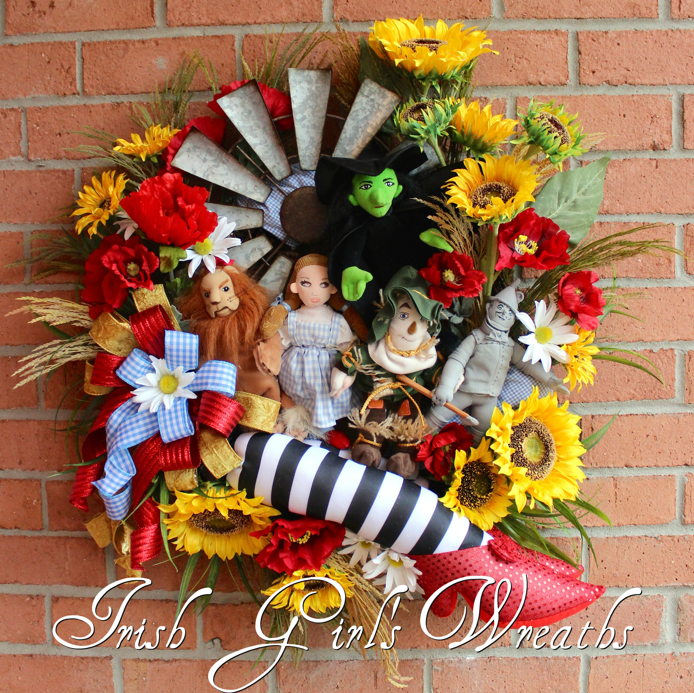Wizard of Oz Kansas Wreath, Custom order for Patty