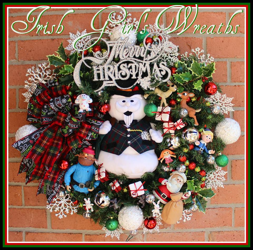 Sam the Snowman Island of Misfit Toys Wreath