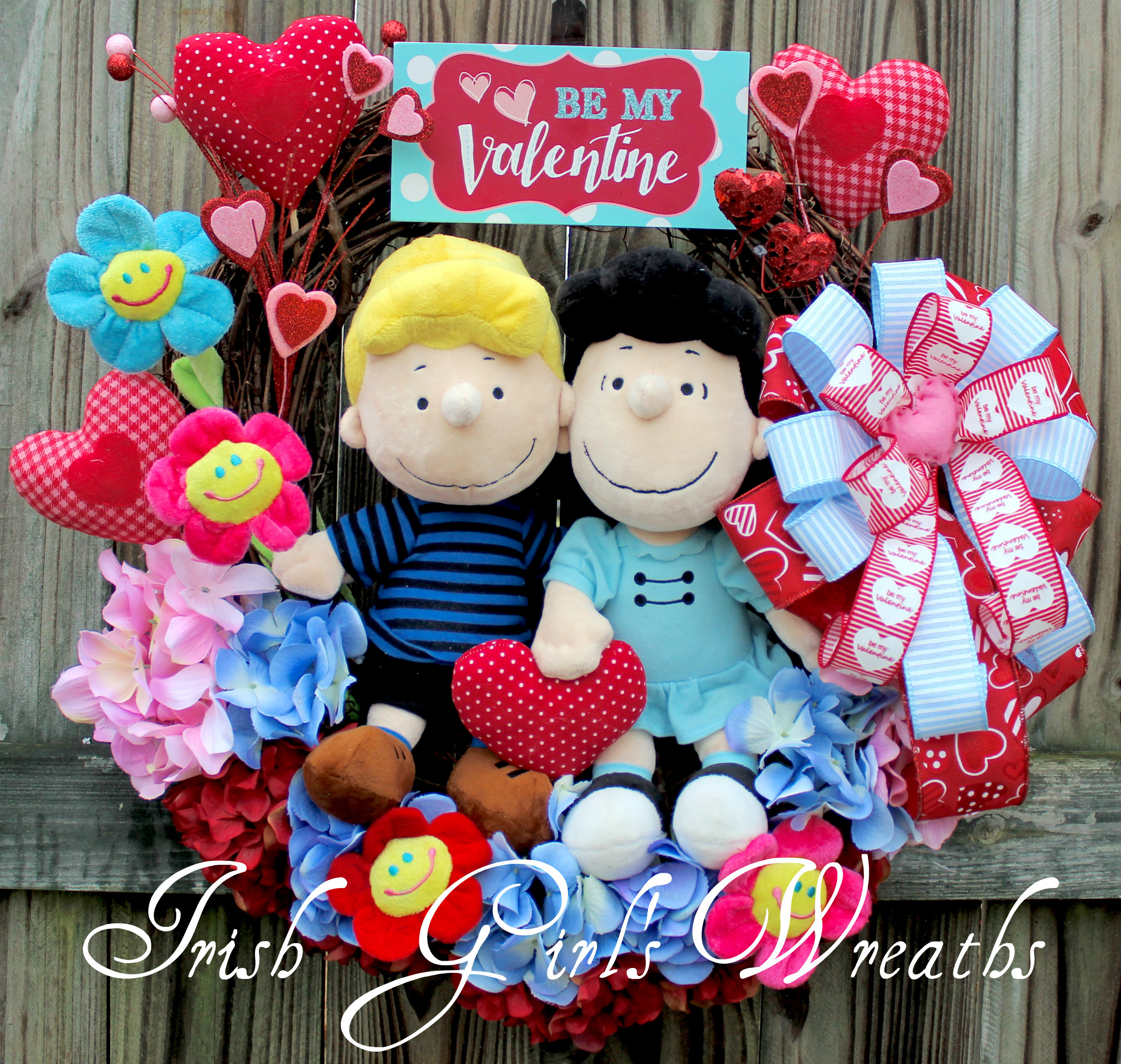 Peanuts Lucy and Schroeder Be My Valentine Wreath #4