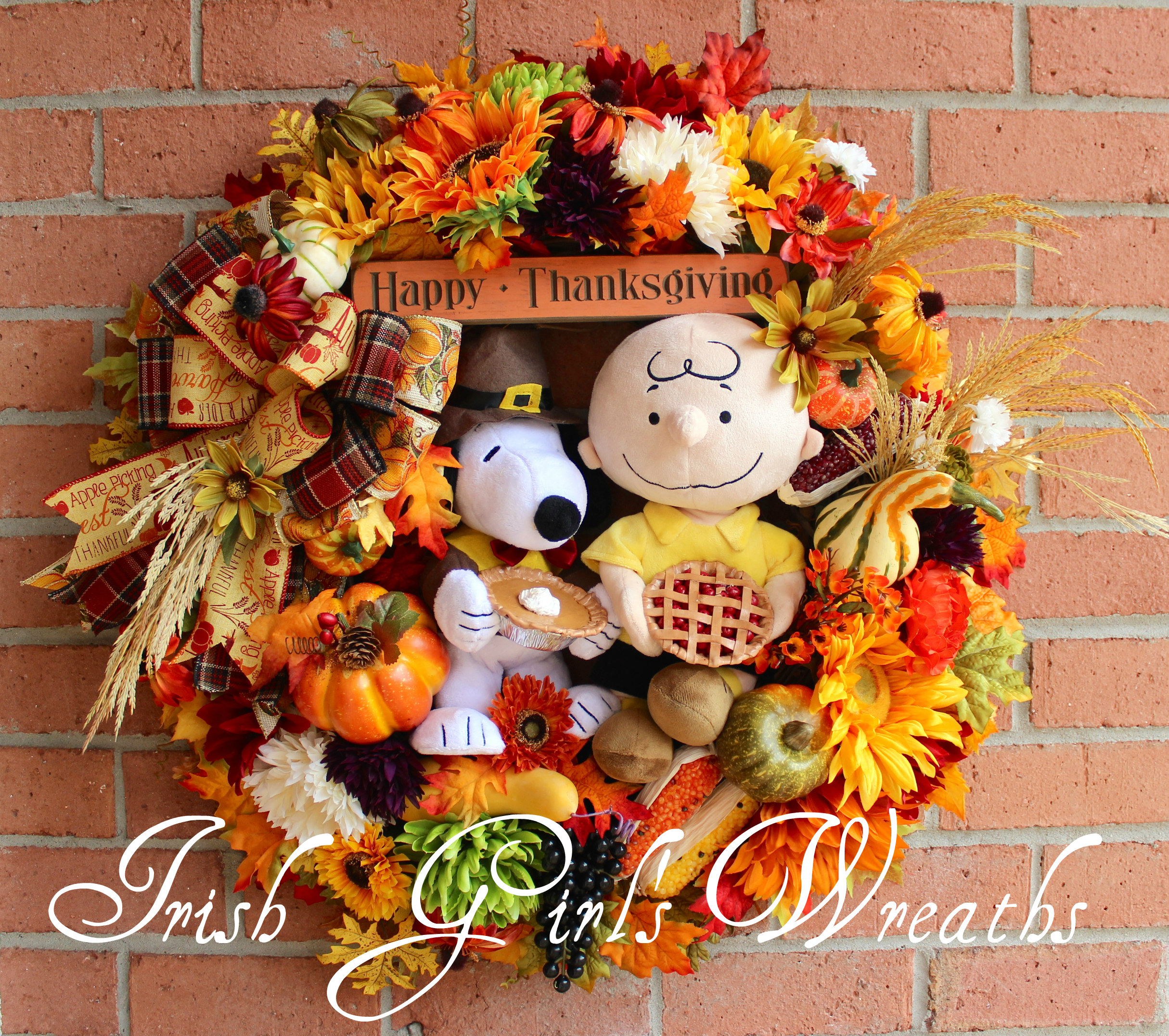 Charlie Brown & SnoopyThanksgiving Wreath