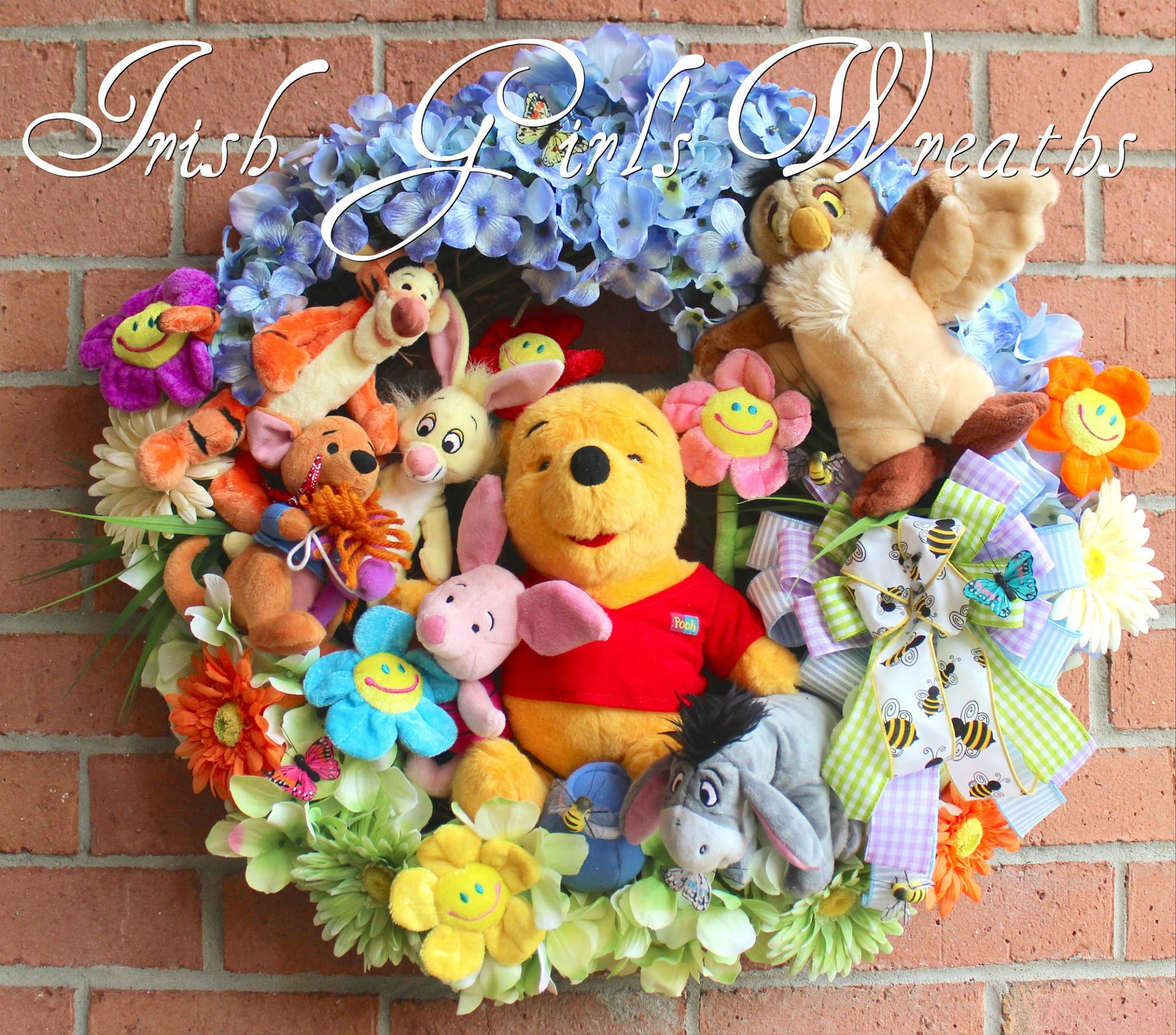 Deluxe Winnie the Pooh and Friends Wreath, Custom for Starr