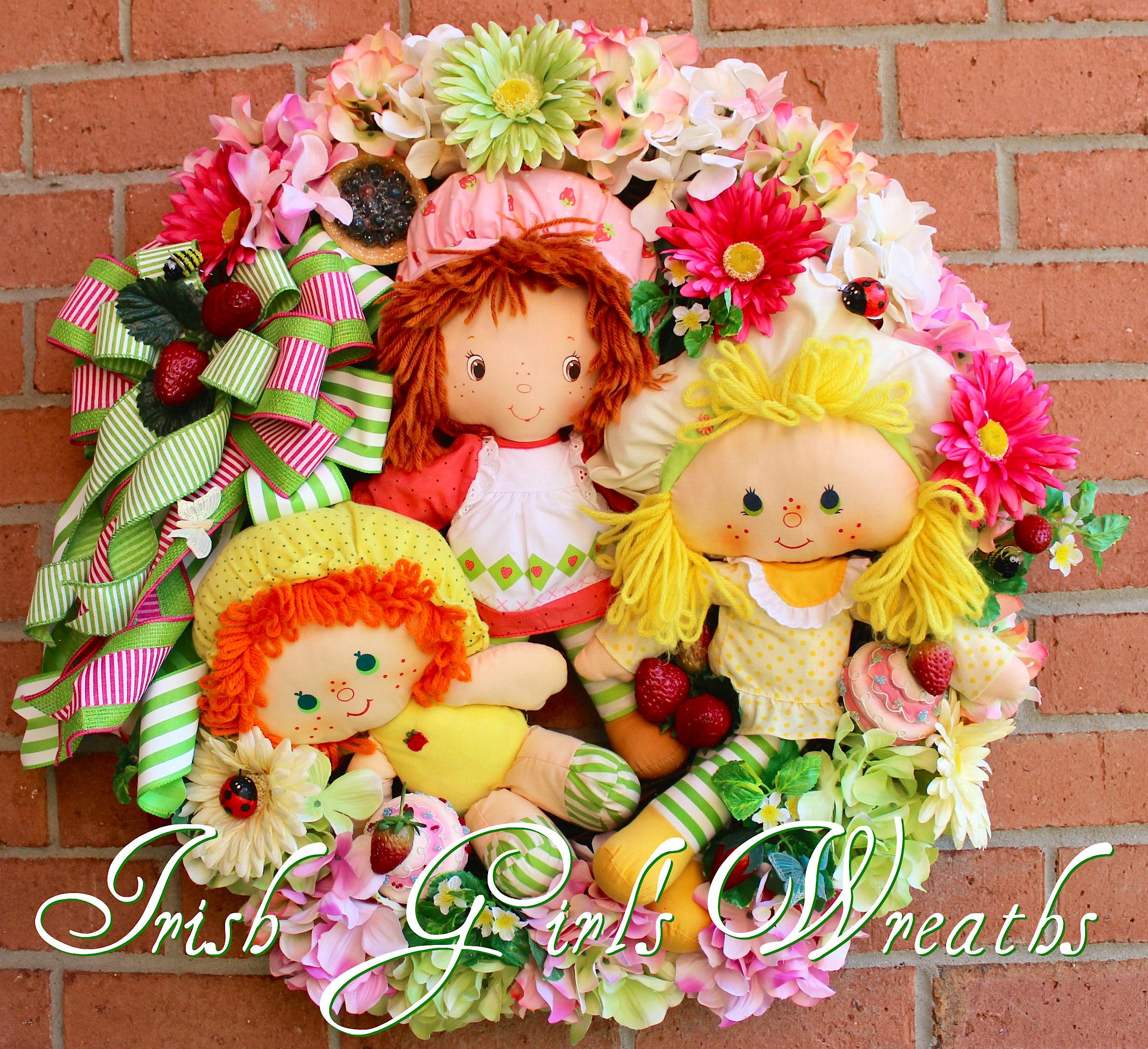 World Of Strawberry Shortcake Wreath, Custom for Dolores