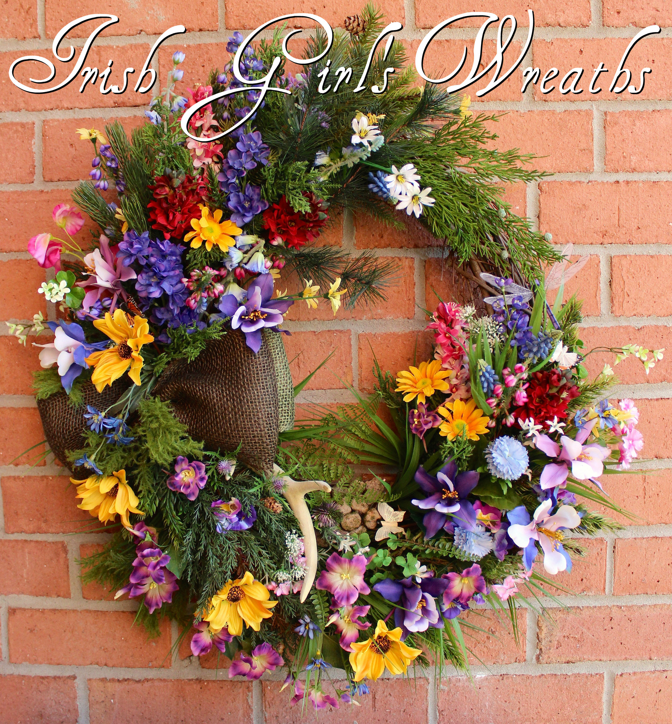 Colorado Mountain Wildflower Wreath, Custom for Theresa