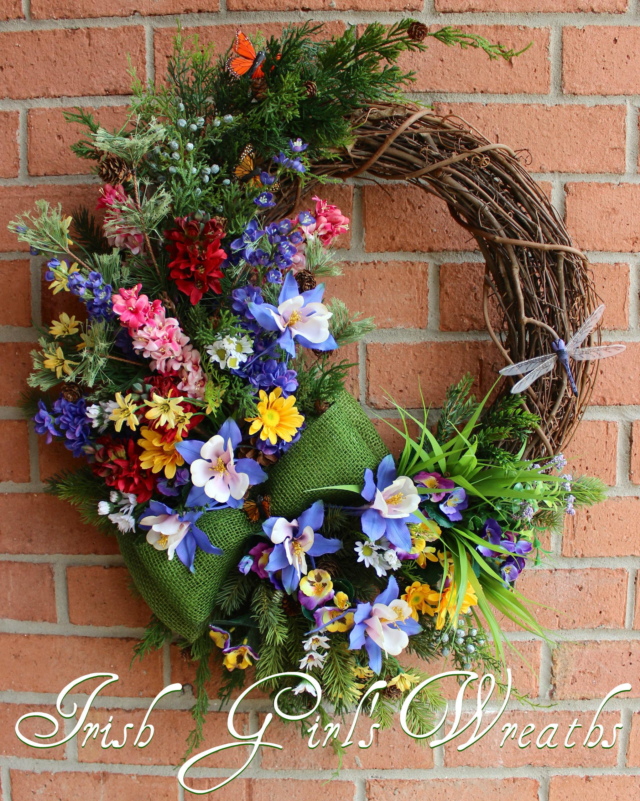 Colorado Mountain Wildflower – Pacific Northwest Majestic Wilderness Wreath