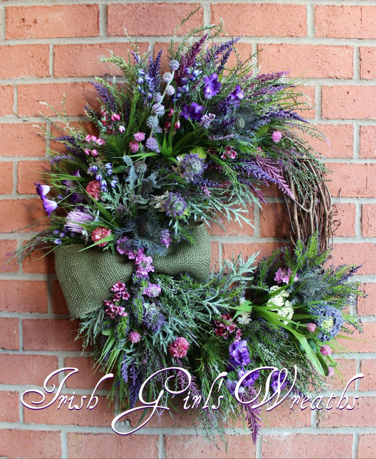 MADE TO ORDER Scottish Thistle & Heather Coastal Wreath, Highland Scotland Coastal