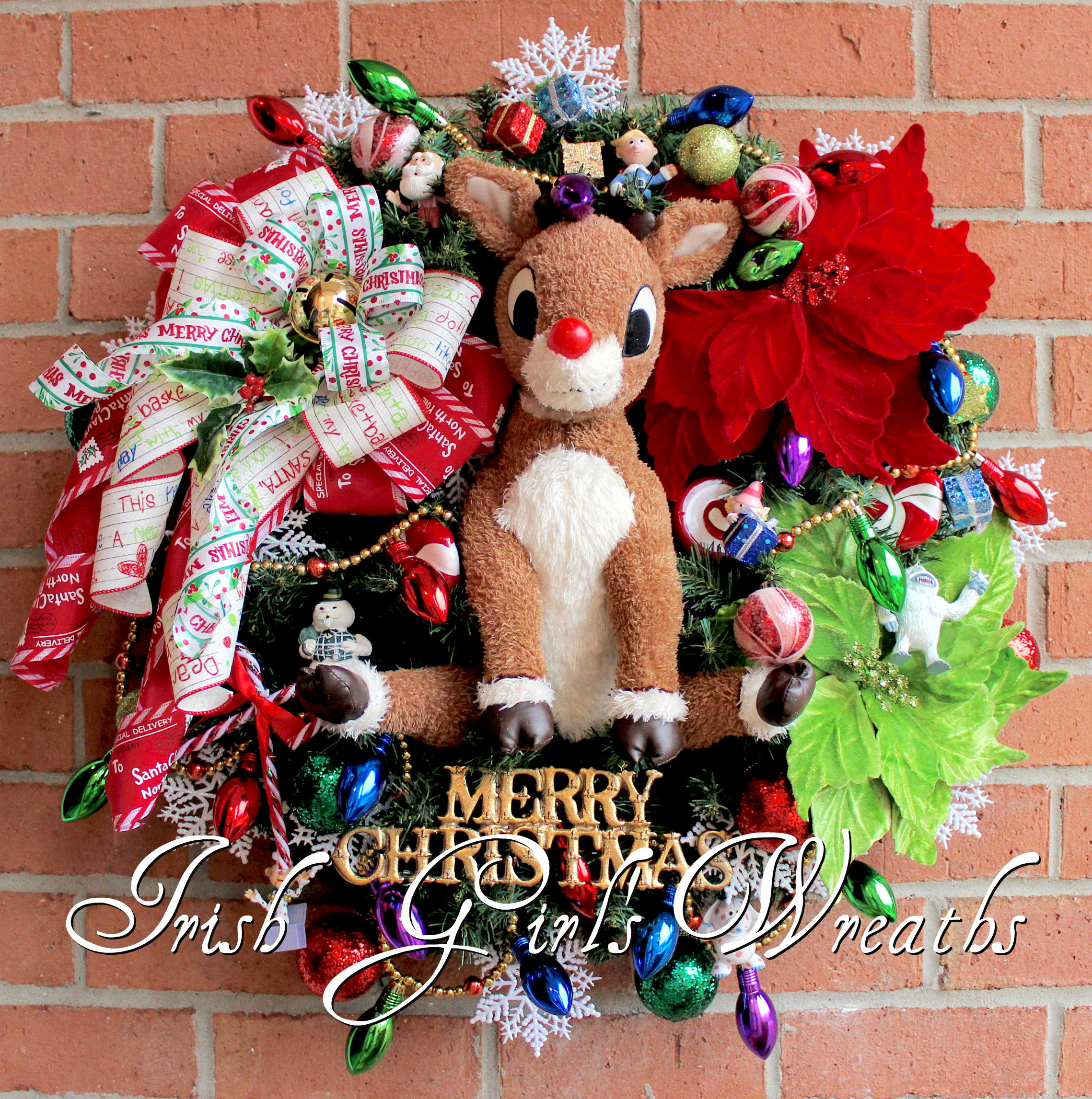 Rudolph the Red-Nosed Reindeer & Island of Misfit Toys Christmas Wreath