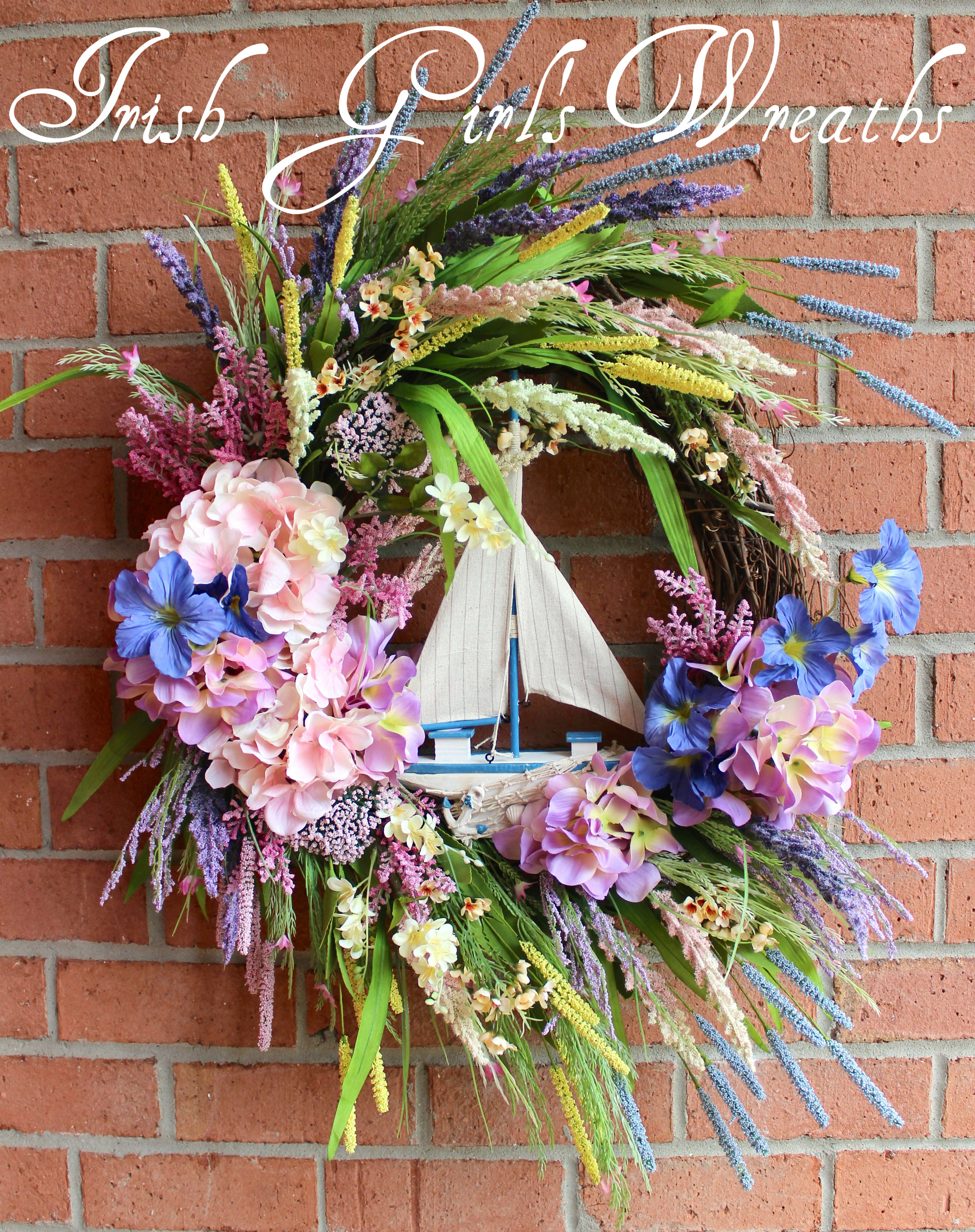 XL Sailboat Sunset Nautical Wreath