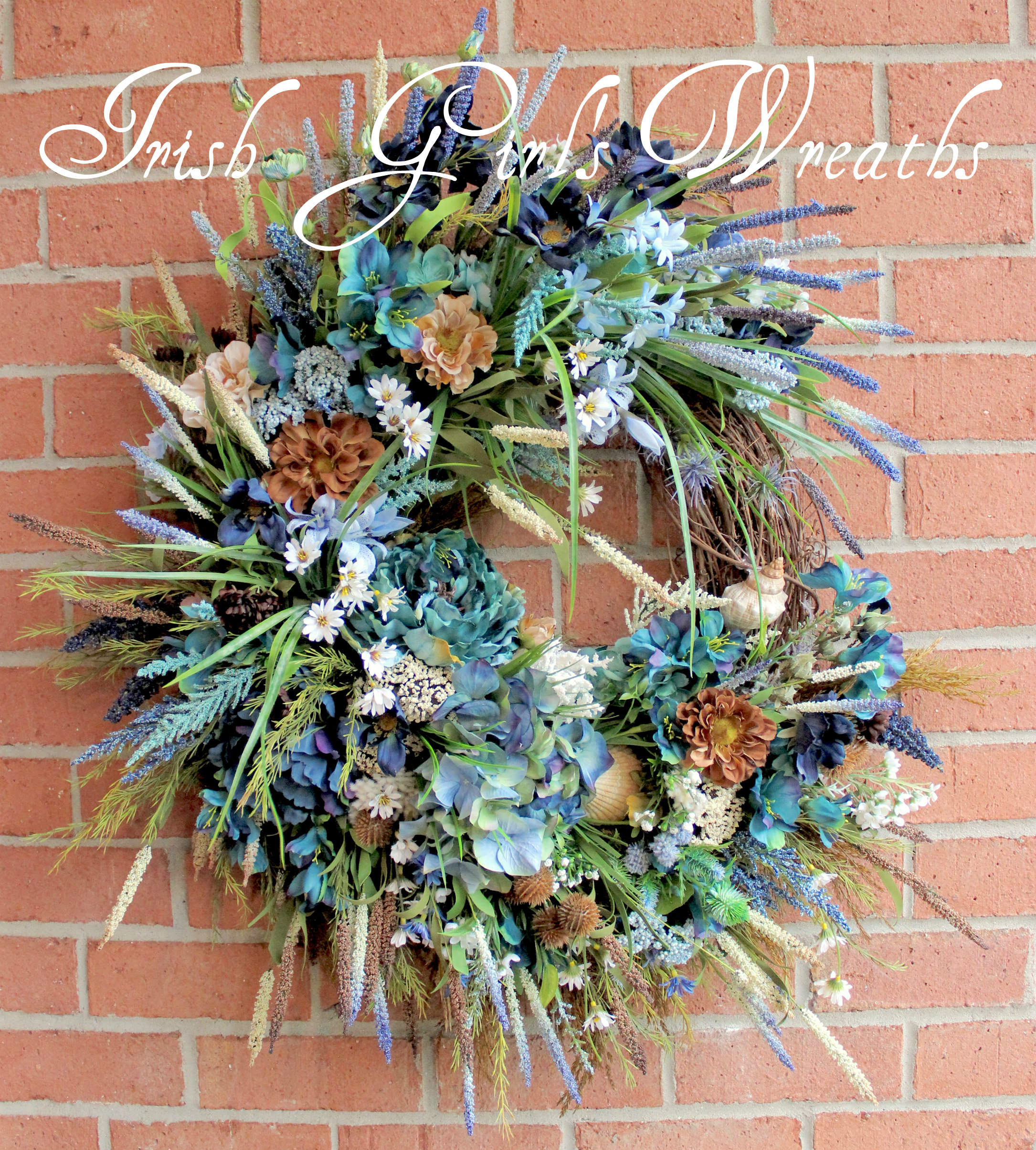 XL Stormy Seas Coastal Wreath, Custom Order for Natalia